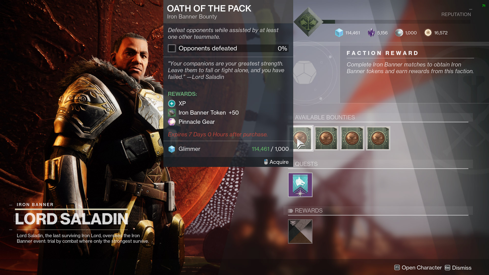 destiny 2 oath of the pack