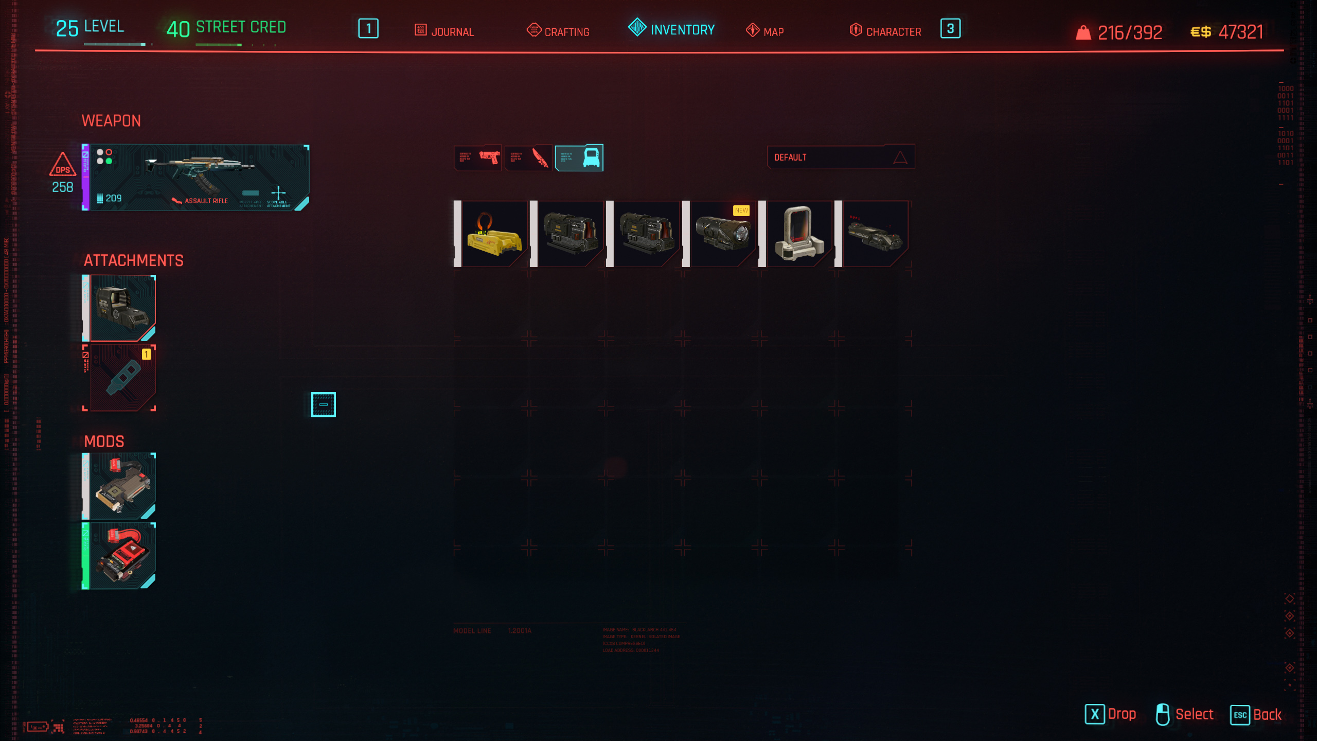 modify weapons cyberpunk 2077