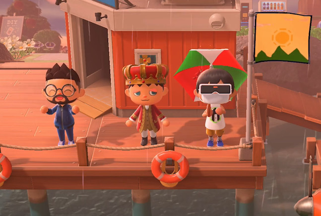 The Shack staff met up in Animal Crossing throughout 2020.