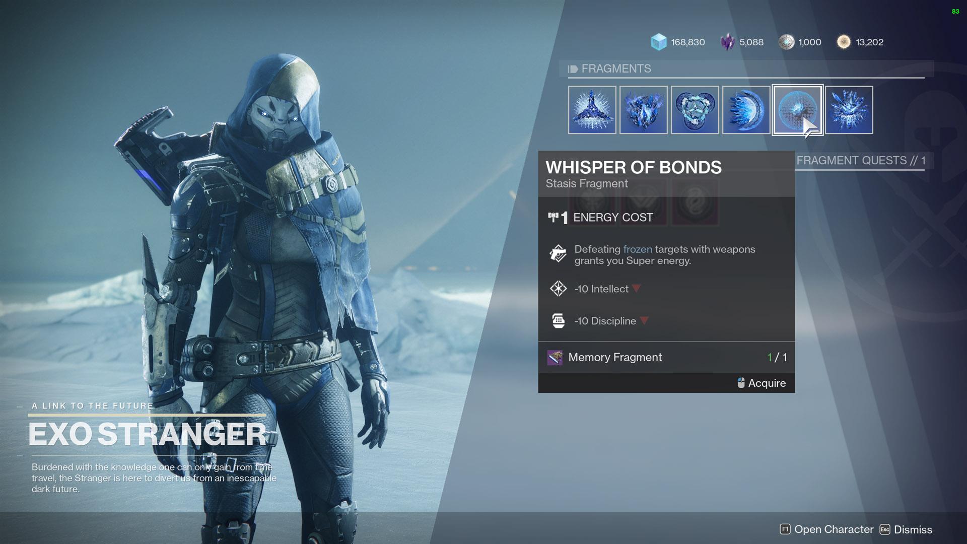 destiny 2 all fragments whisper of bonds