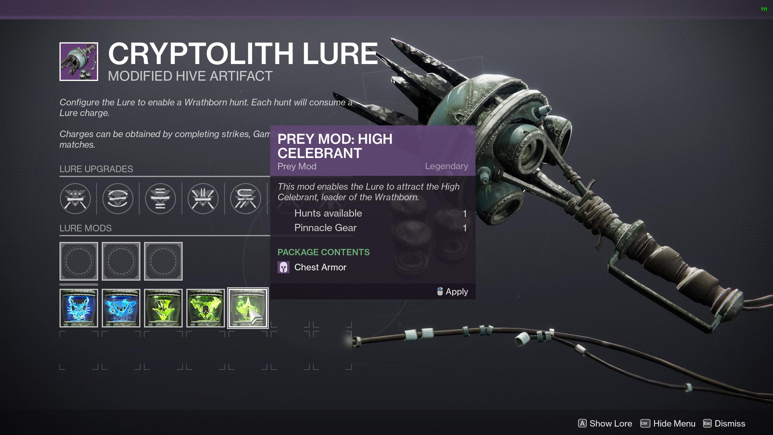 destiny 2 ascendant hunter configure the lure