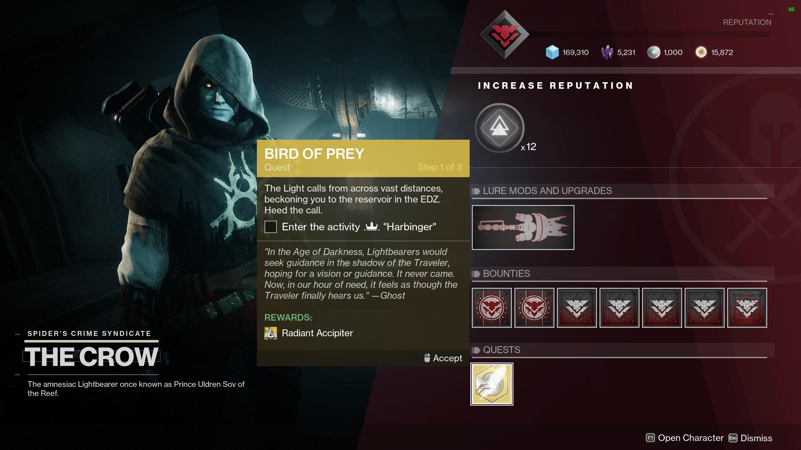 destiny 2 bird of prey quest