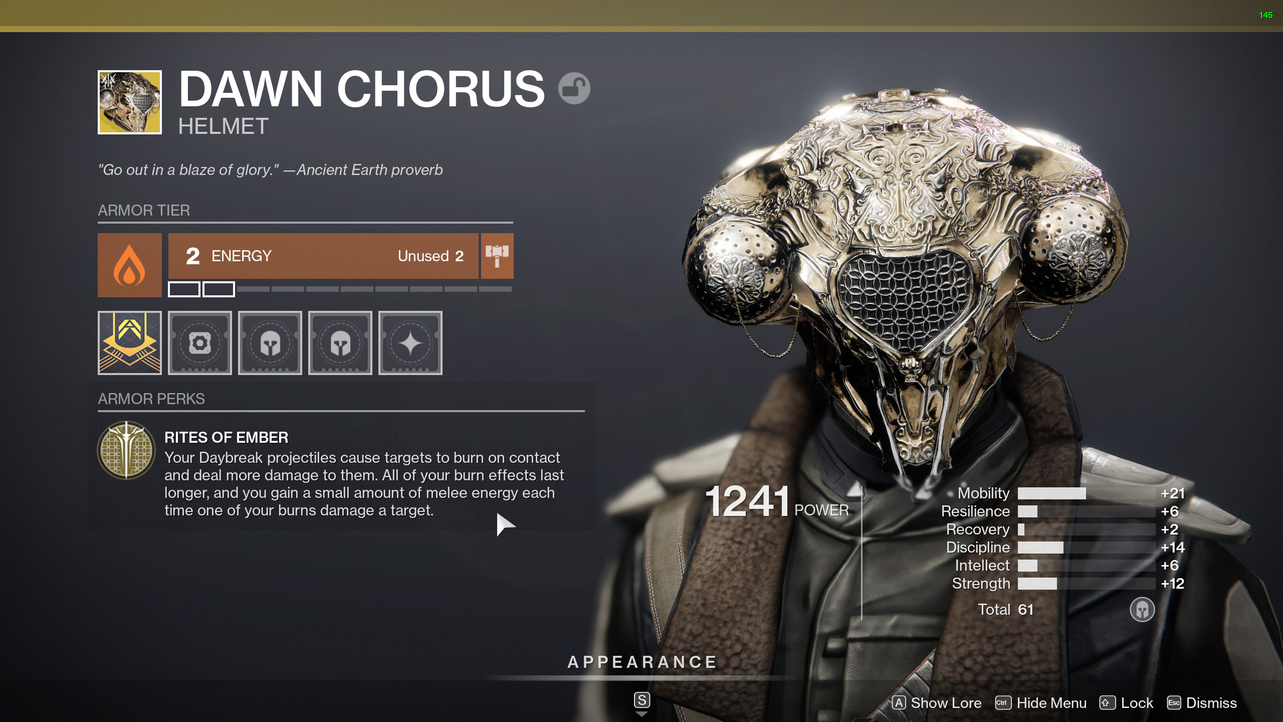 destiny 2 dawn chorus rites of ember