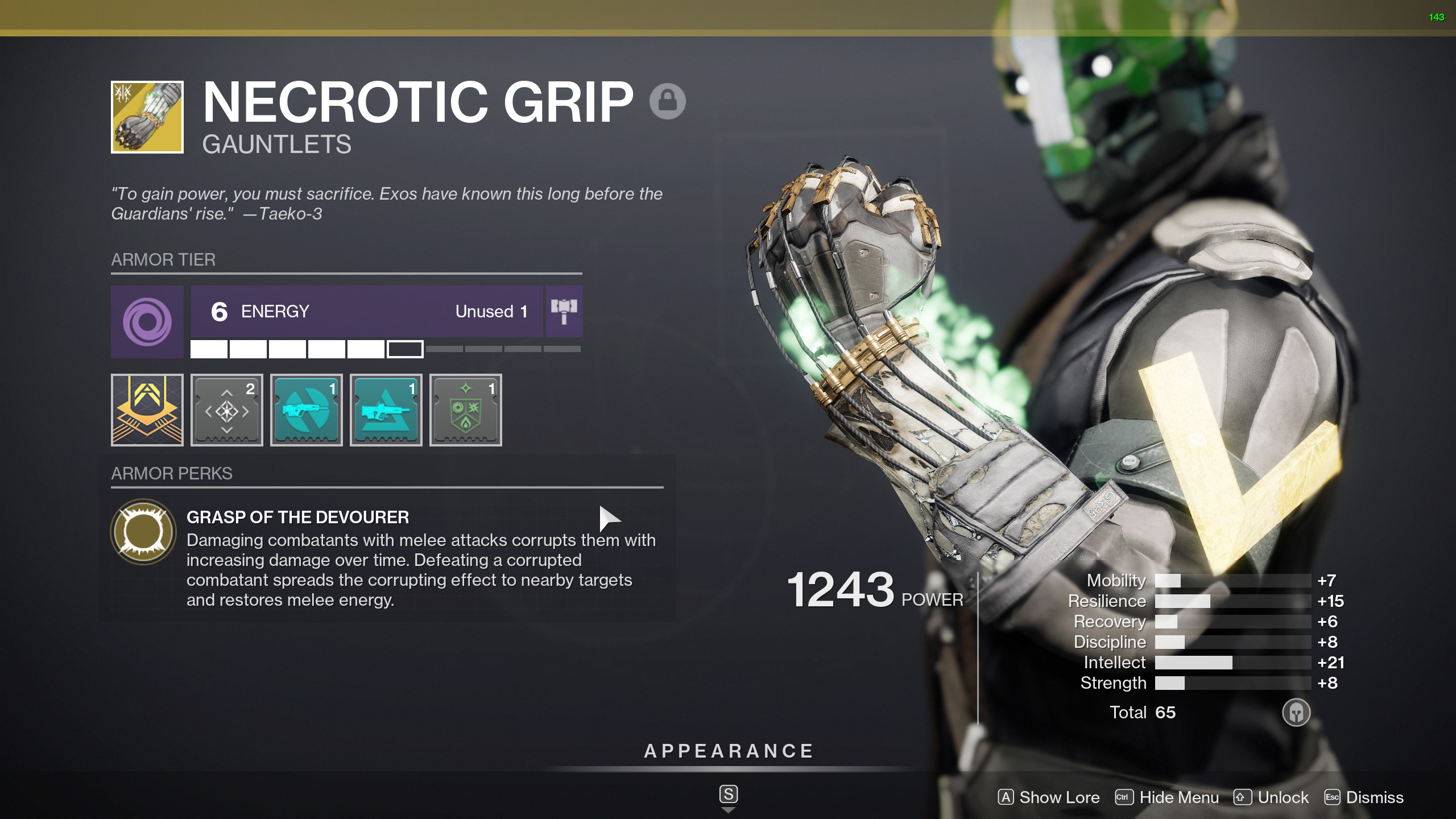destiny 2 necrotic grip
