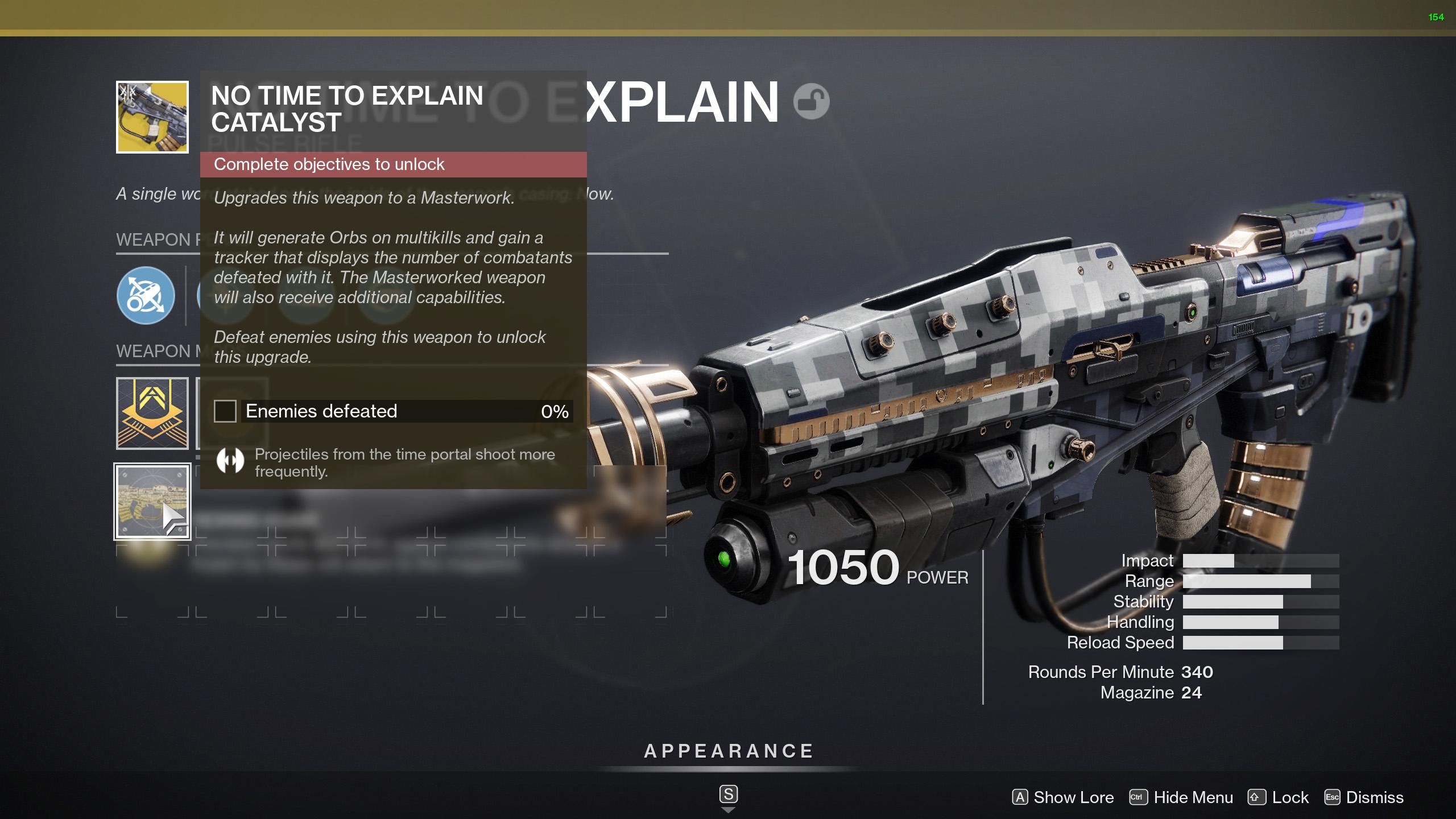 destiny 2 no time to explain catalyst
