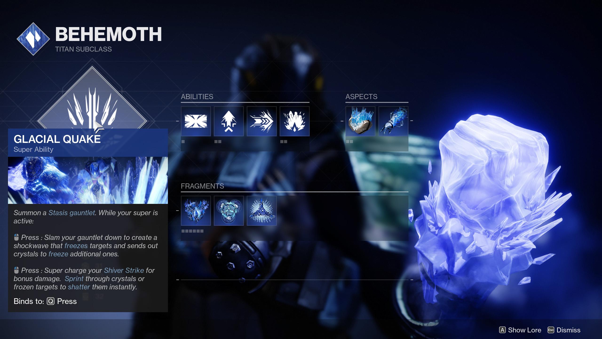 destiny 2 subclass titan behemoth