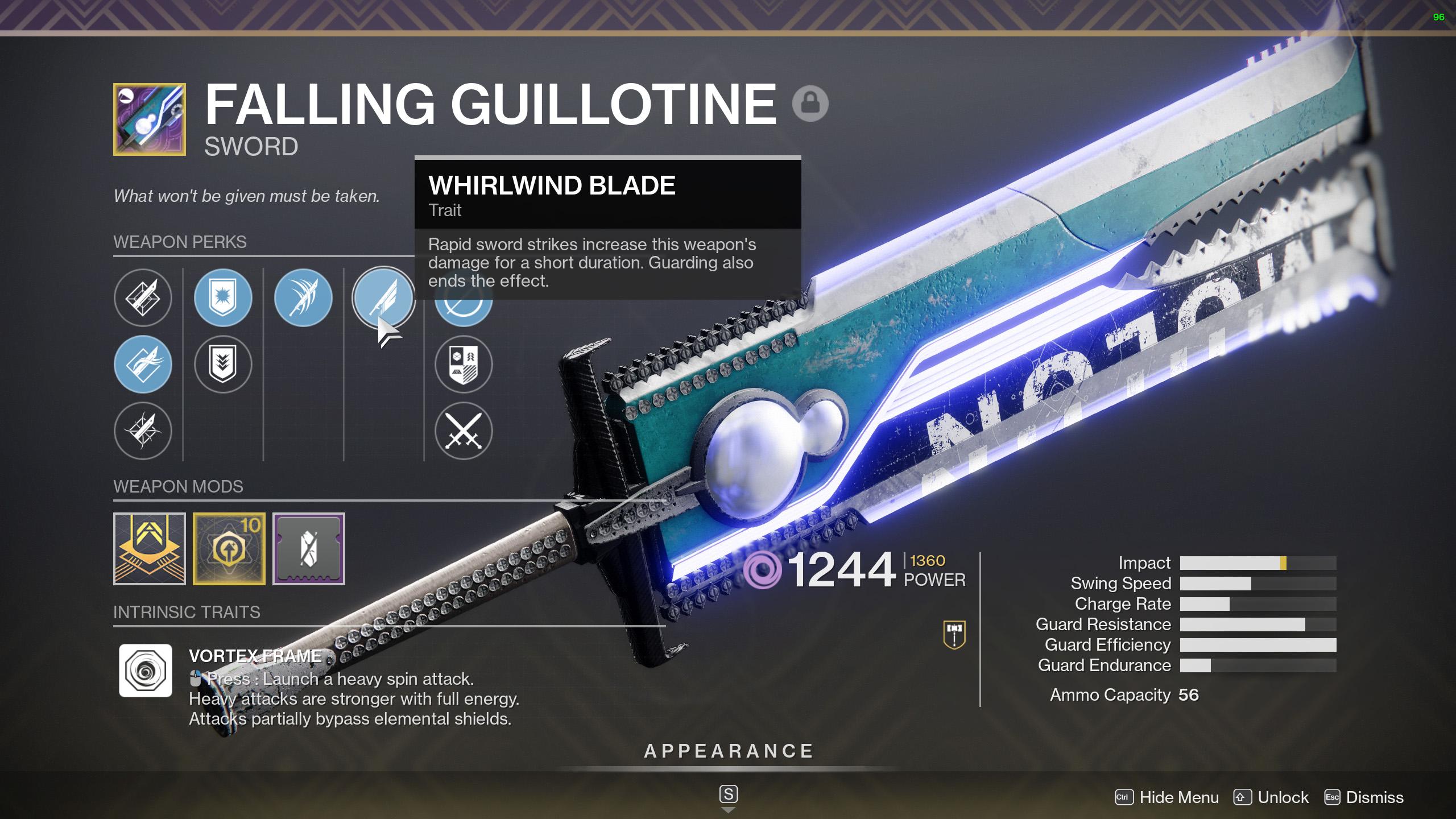 destiny 2 sword nerfs TWAB