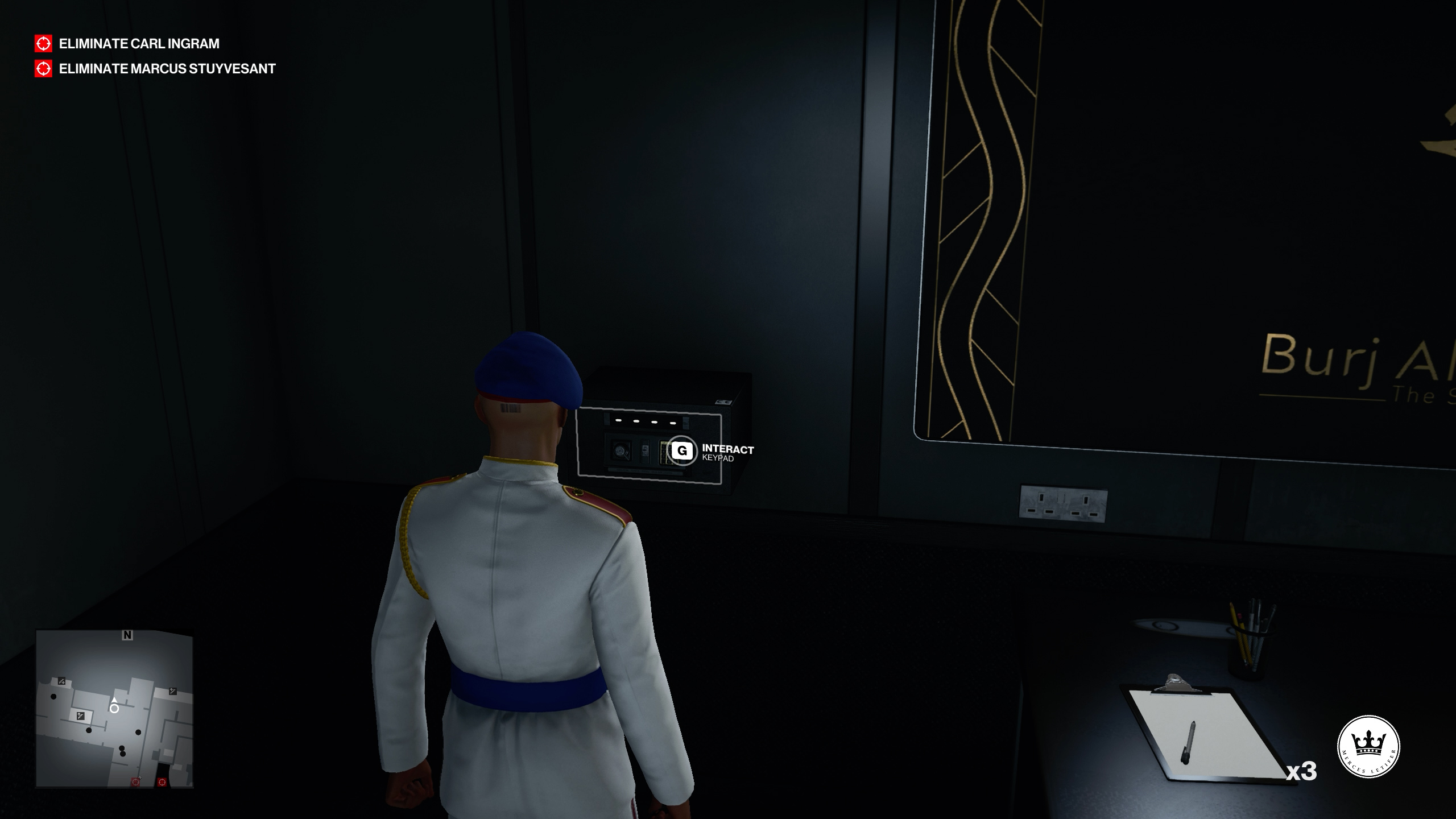 Dubai Security Room safe code - Hitman 3