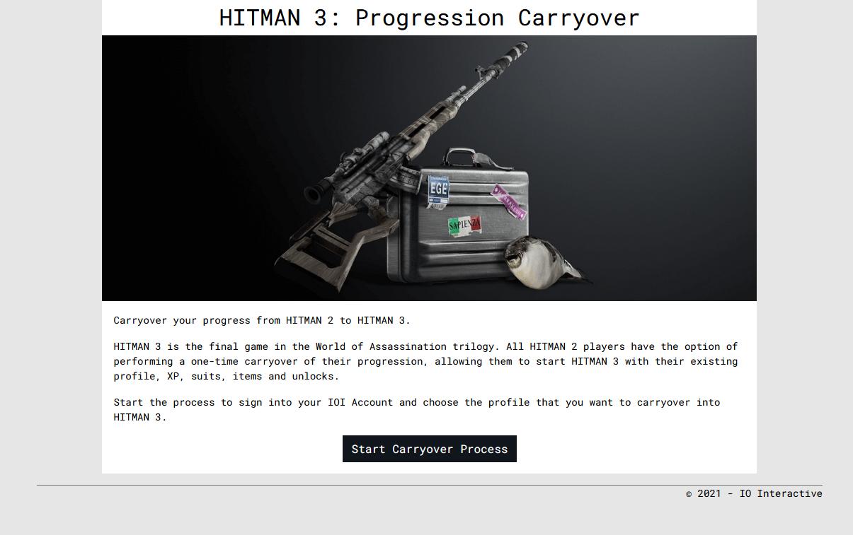 Hitman 3 progression guide
