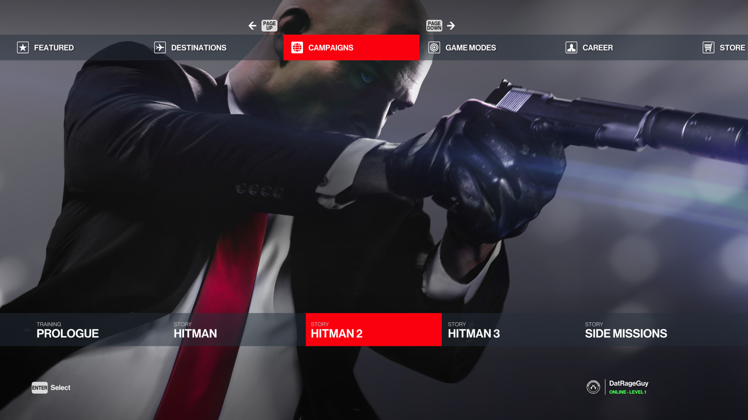 How to play Hitman 1 and Hitman 2 levels in Hitman 3