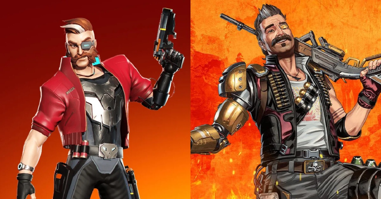 On the left is Hunter from NOWWA's BulletVille. On the right is Fuse from Apex Legends.