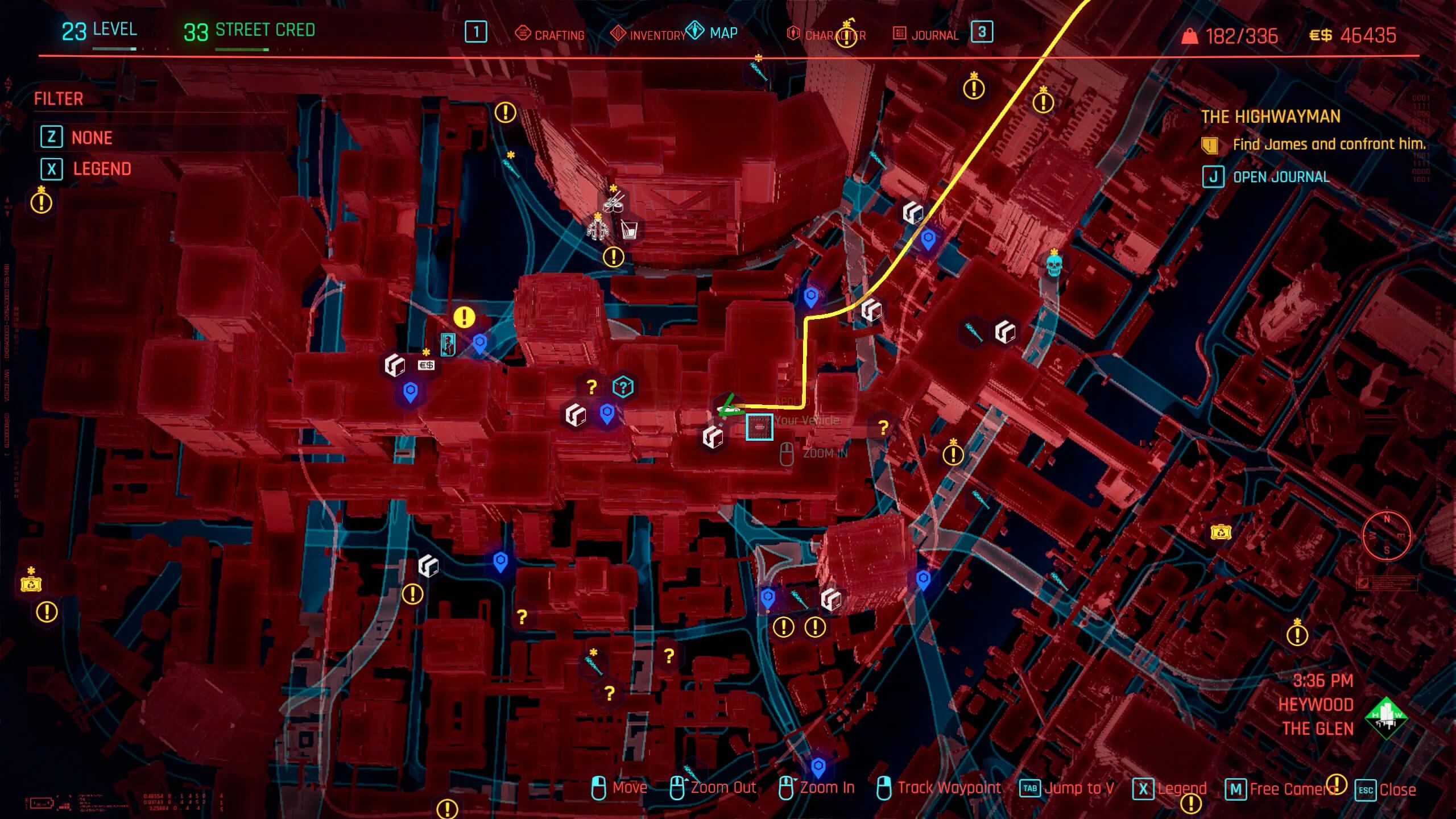 Josie's location - The Highwayman - Cyberpunk 2077