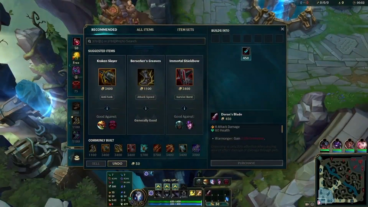 Not only are items being reworked, removed, and added, but the recommendations have been reworked to help players along to good builds.