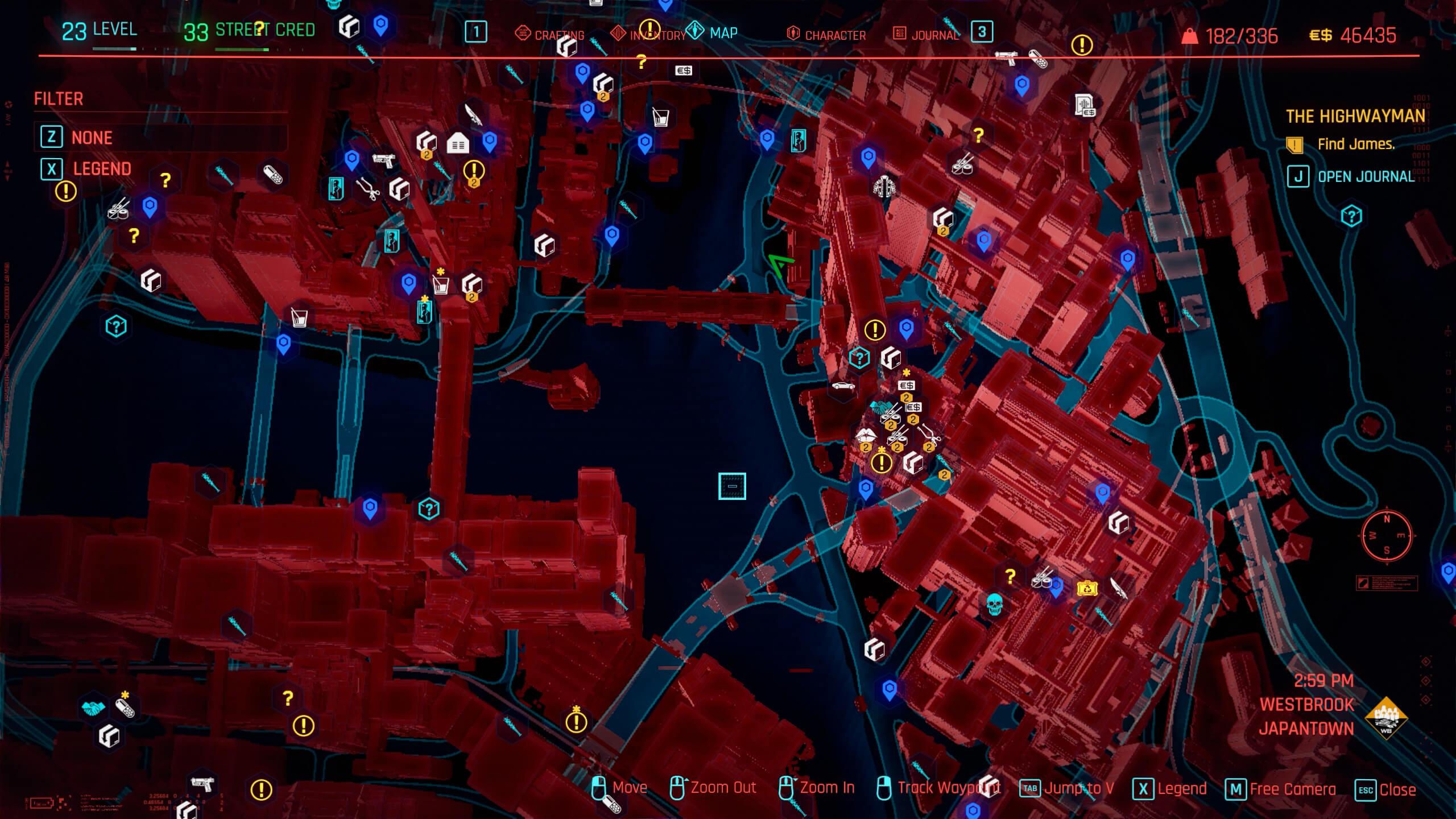 James location - The Highwayman - Cyberpunk 2077