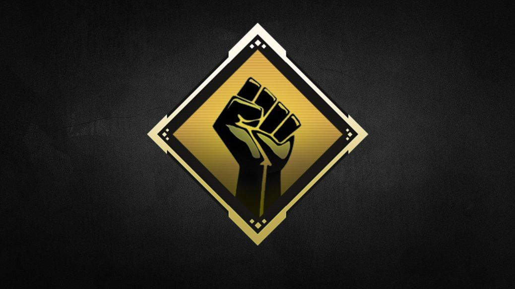 The Black Lives Matter logo, given as a free badge to all players in Apex Legends to commemorate Black History Month 2021.