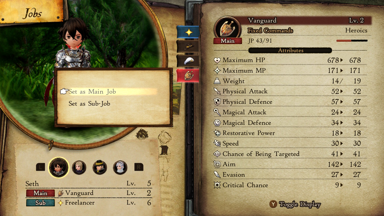 How to change Jobs - Bravely Default 2