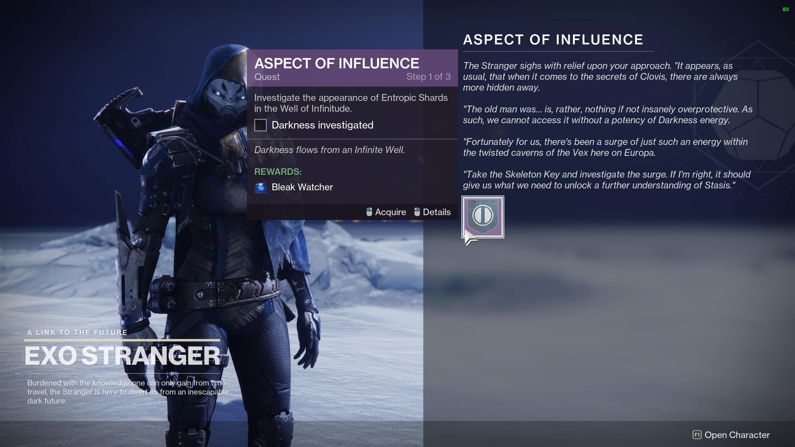 destiny 2 aspect of influence