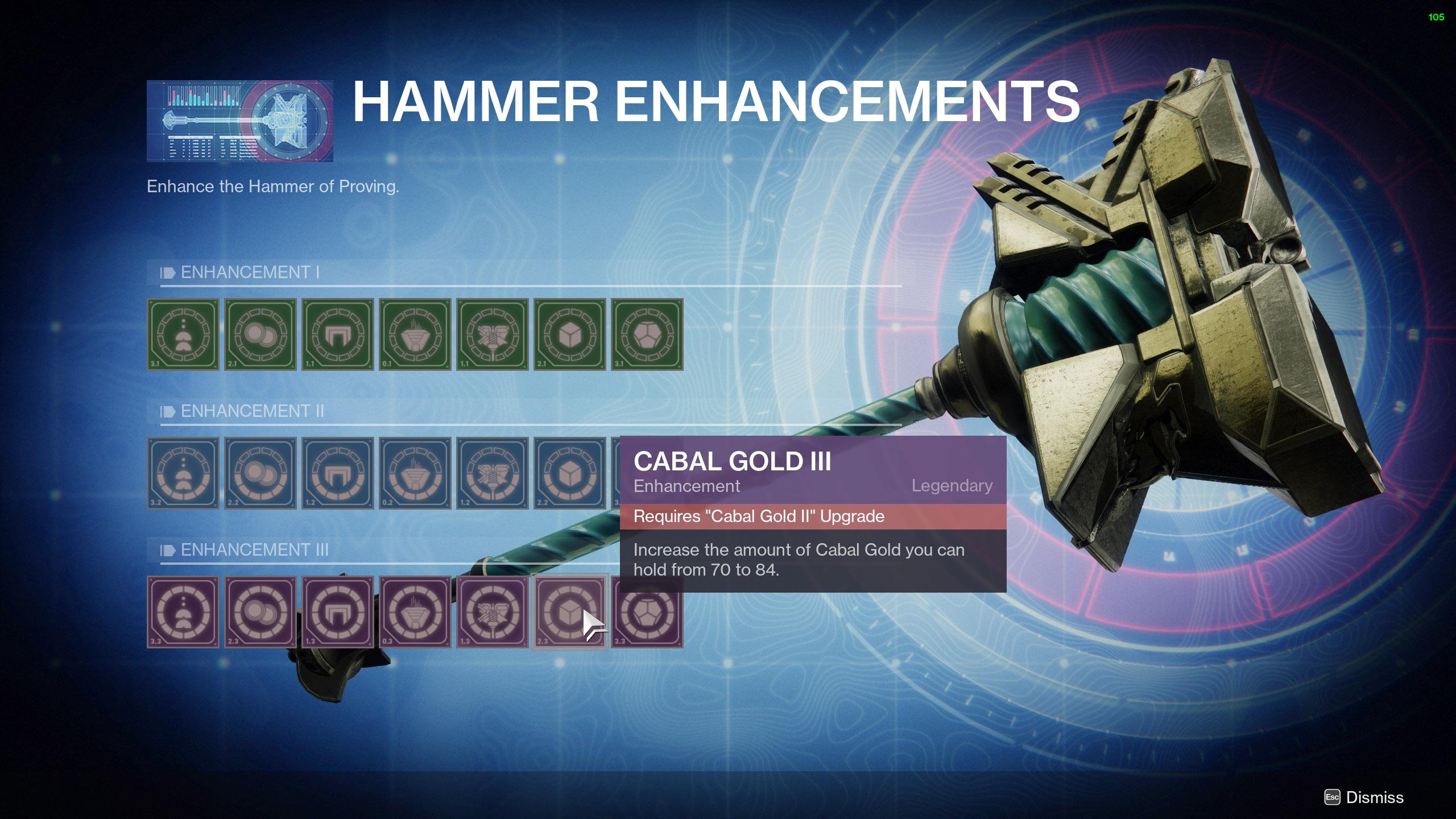 destiny 2 cabal gold carry capacity
