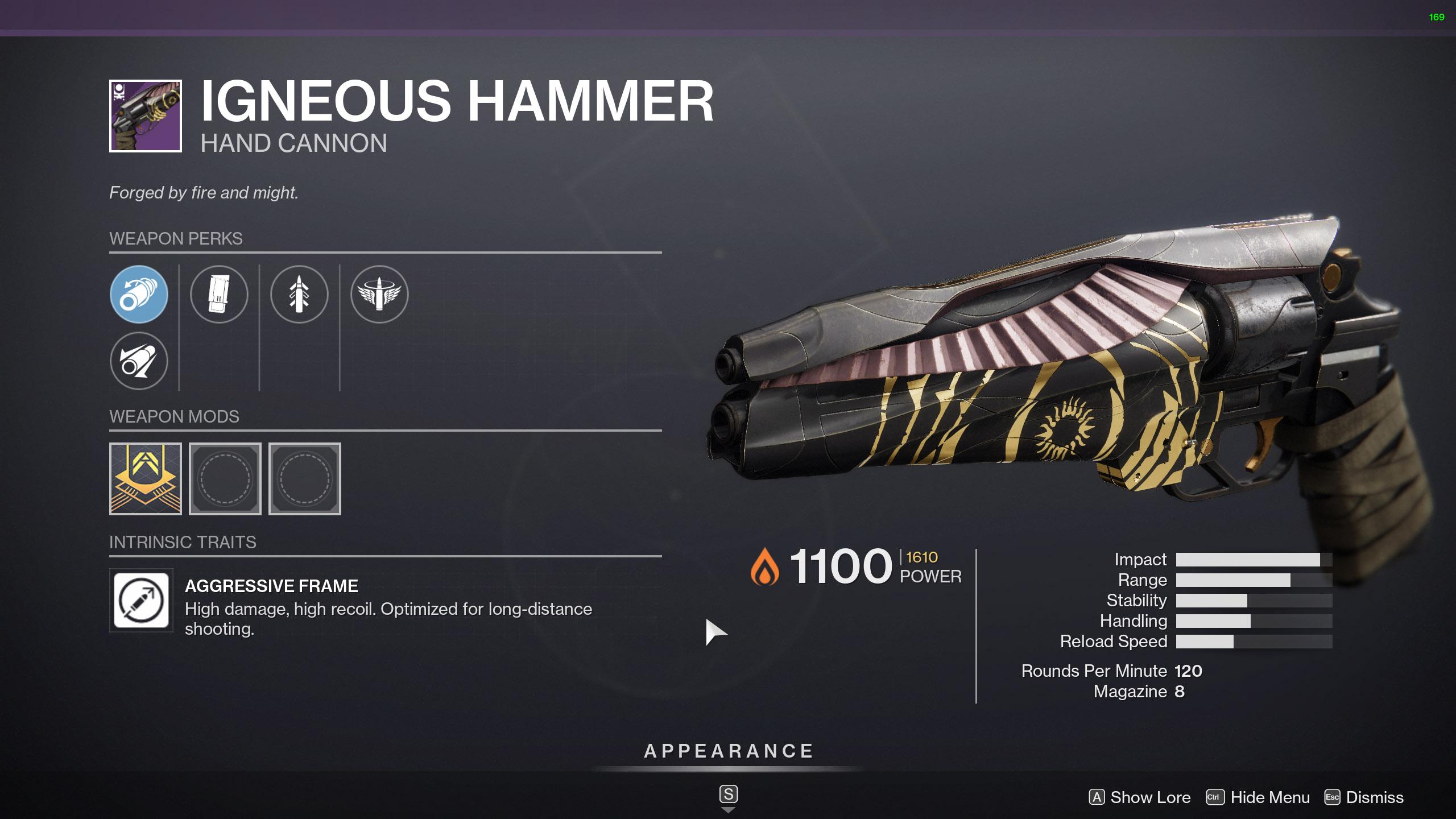 destiny 2 igneous hammer god roll