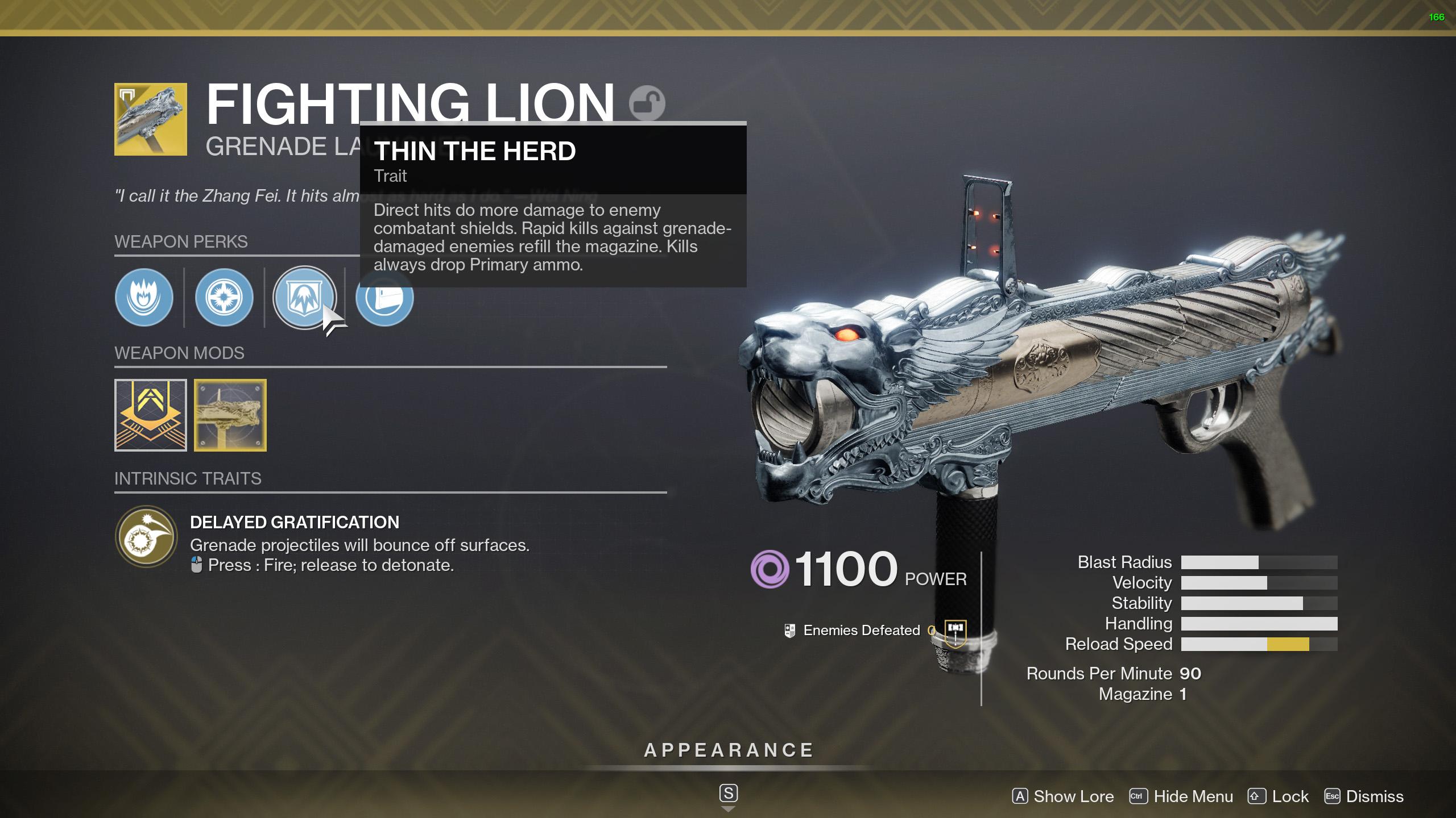 destiny 2 messy business fighting lion