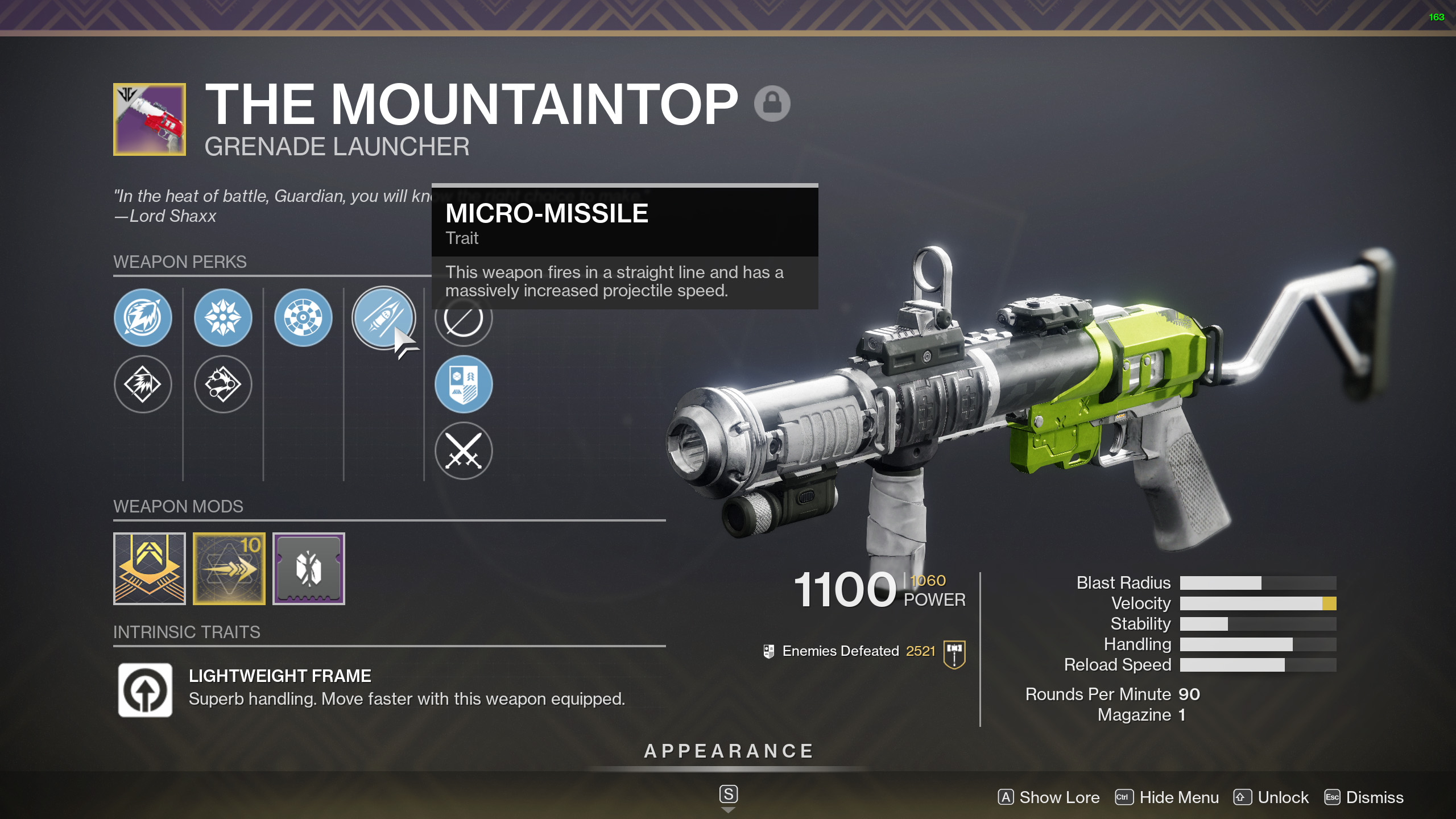 destiny 2 messy business mountain top