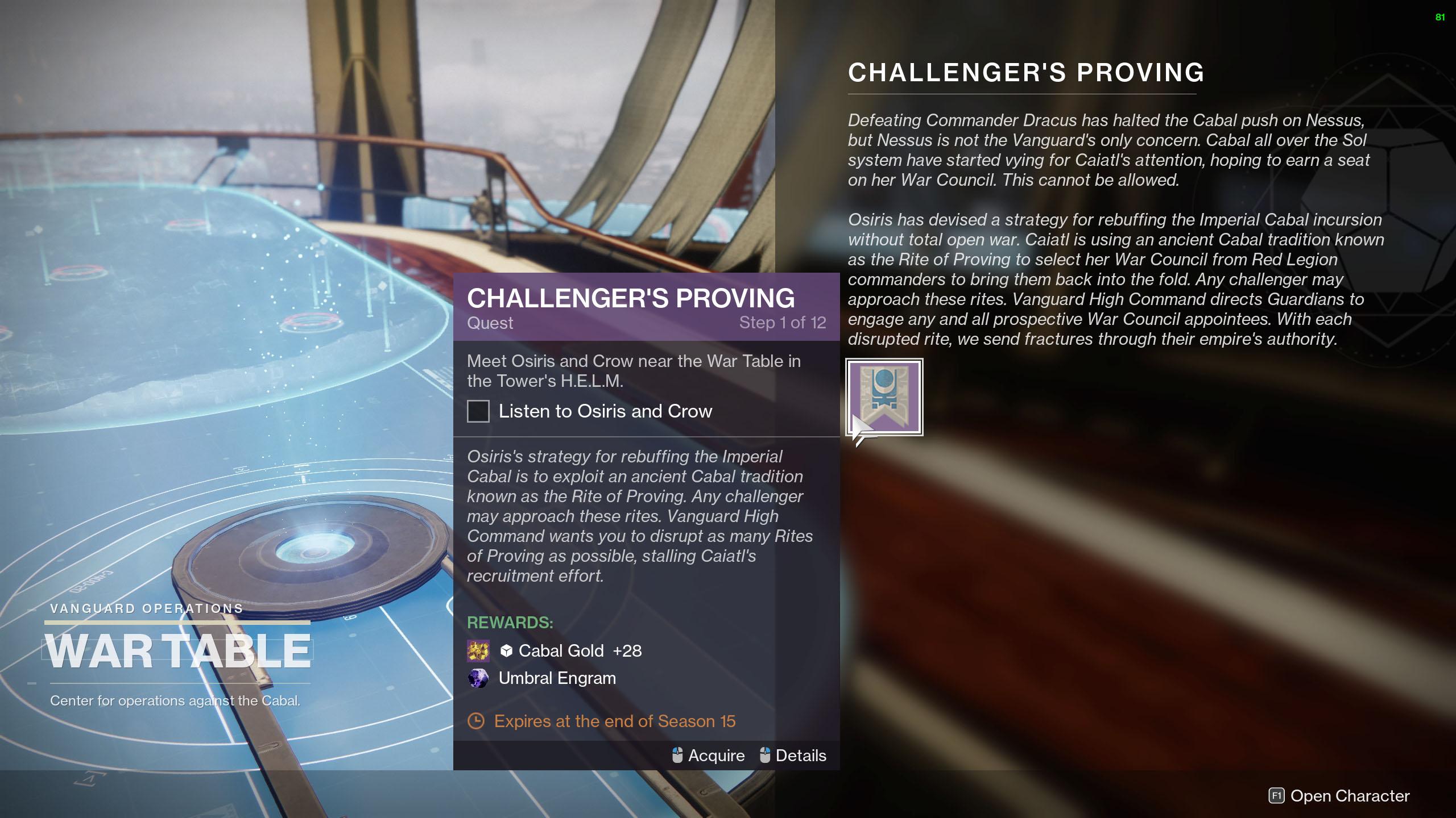 season of the chosen challenger's proving