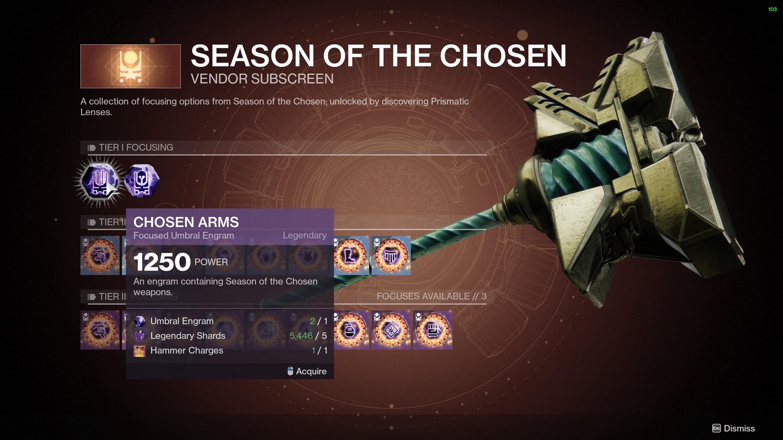 destiny 2 season of the chosen umbral engram