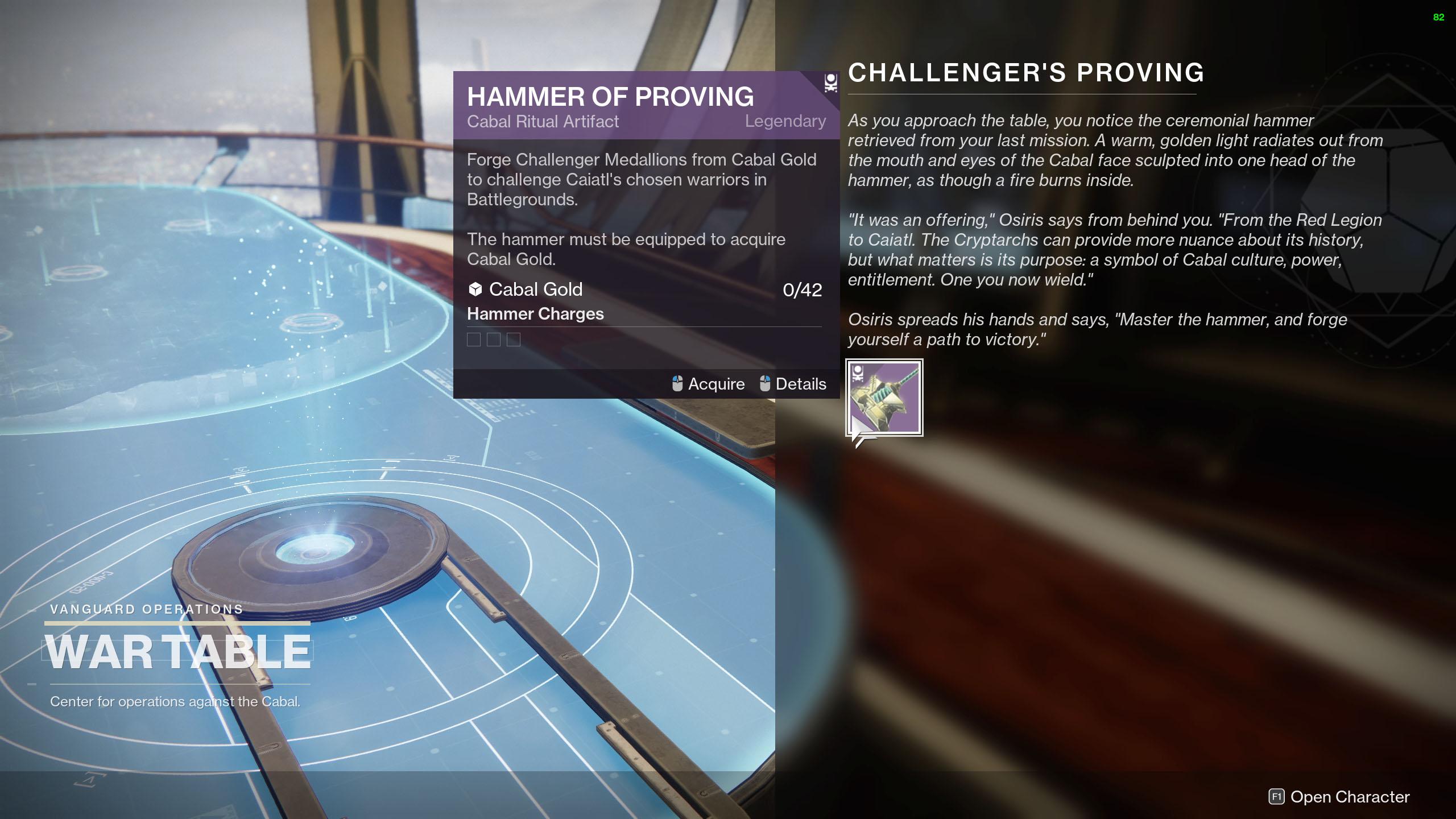destiny 2 season of the chosen HELM Hammer of Proving