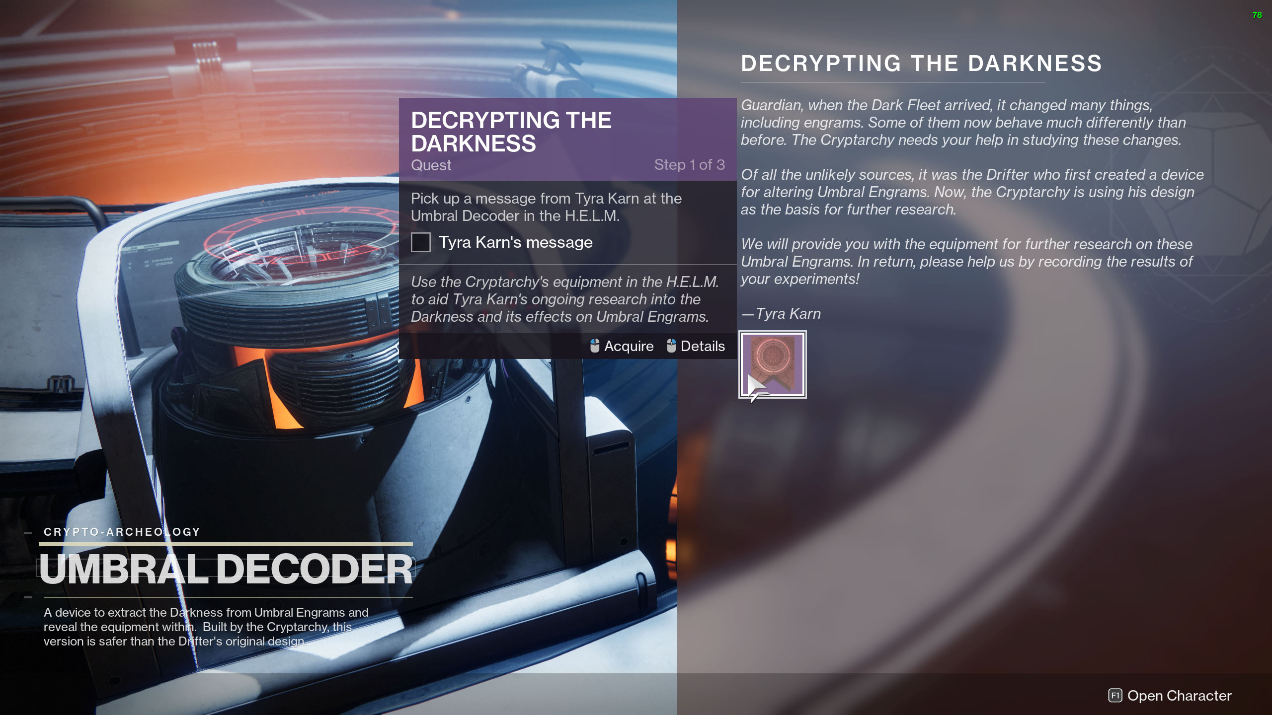 destiny 2 season of the chosen umbral decoder
