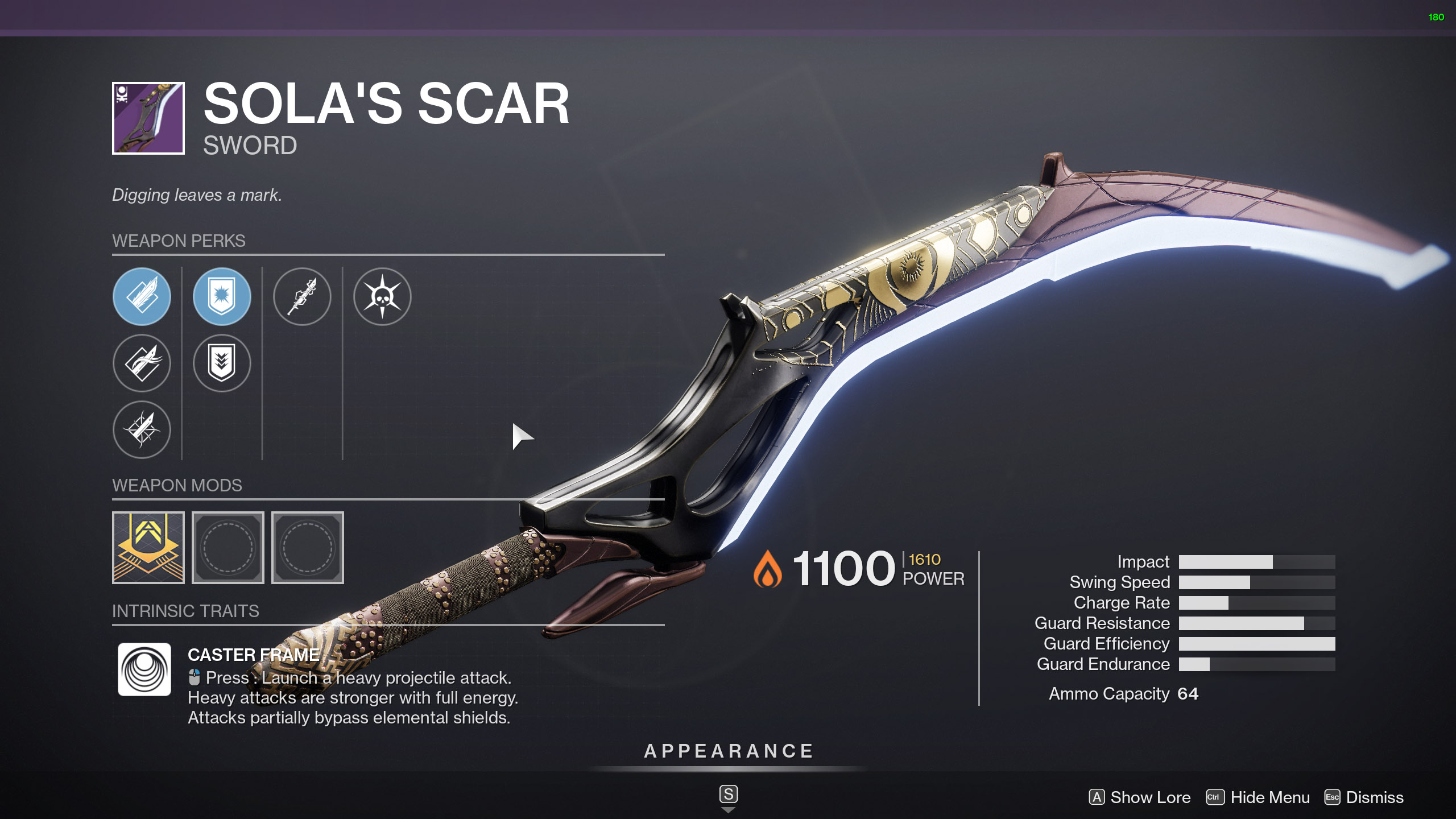 destiny 2 sola's scar god roll