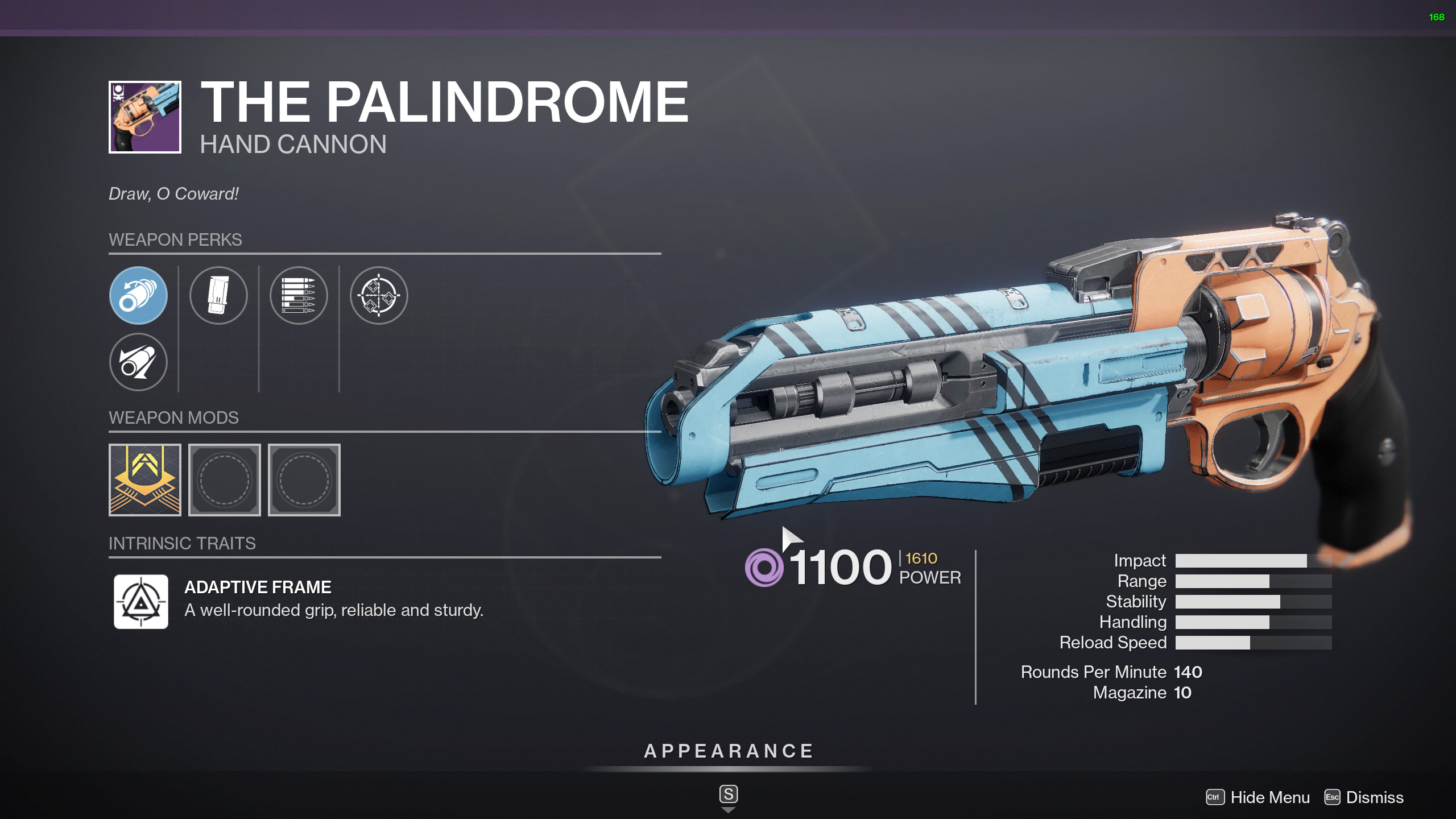 destiny 2 the palindrome god rolls
