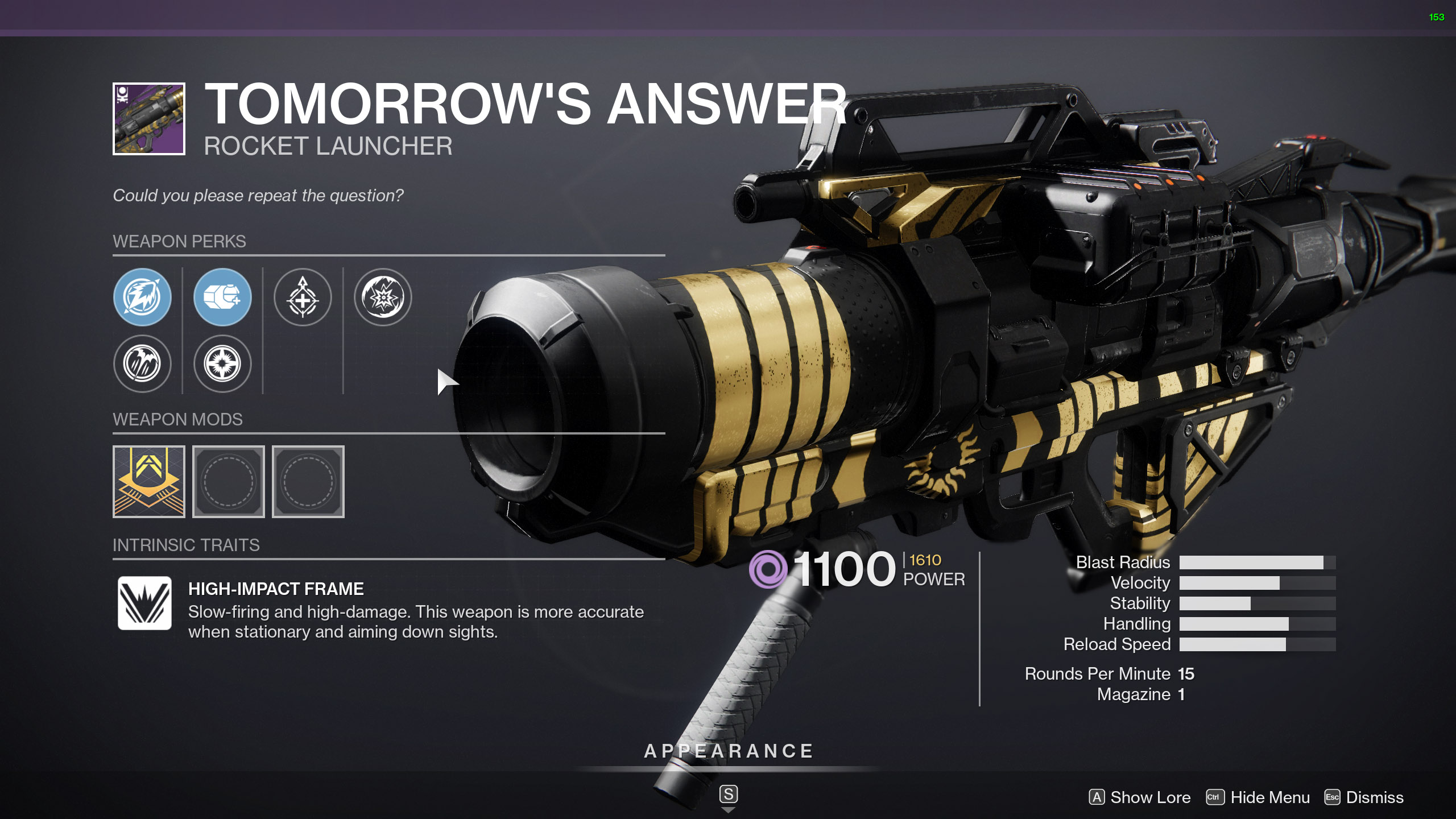 destiny 2 tomorrow's answer god rolls