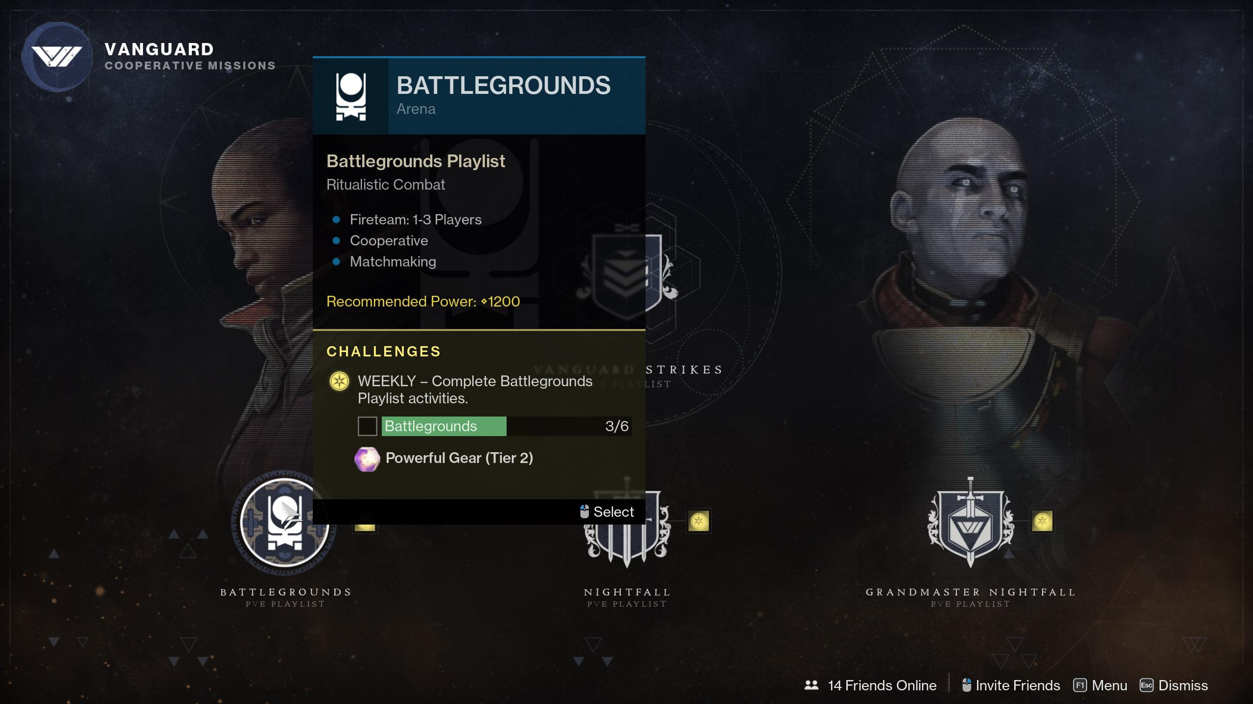 Destiny 2 Tribute Chests Battleground playlist