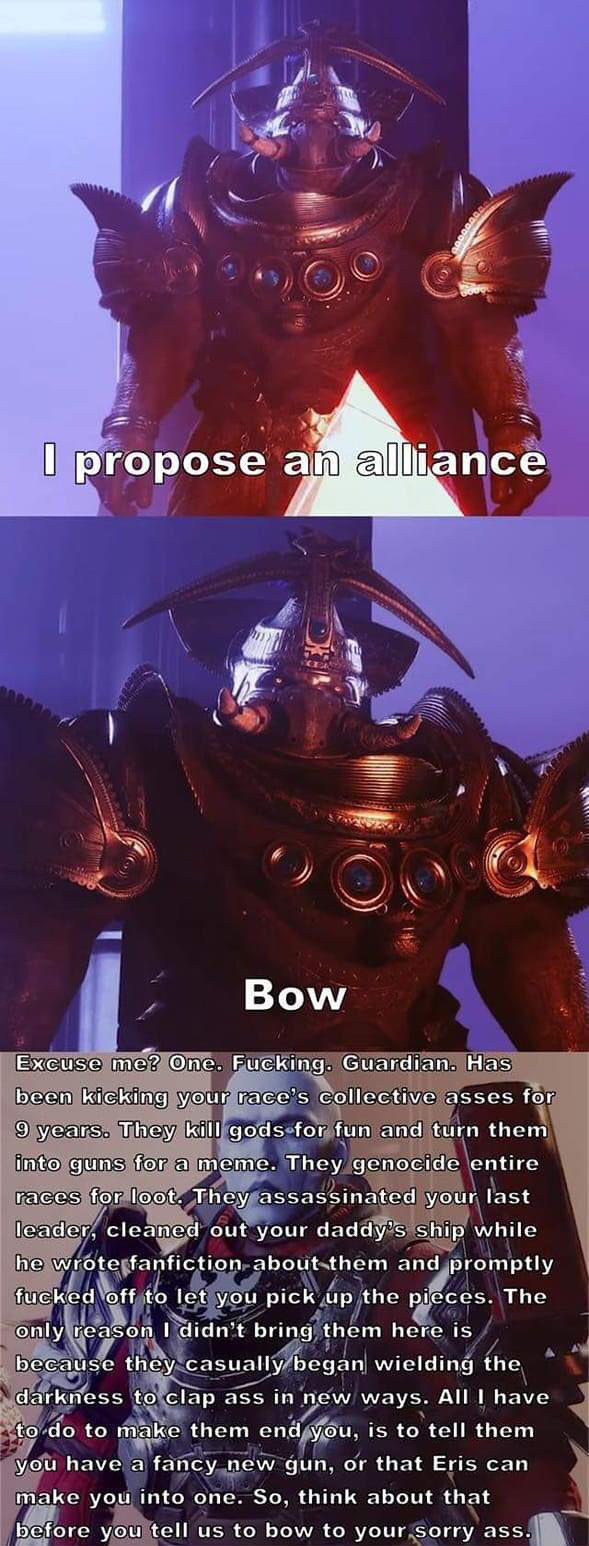 destiny 2 zavala bow meme