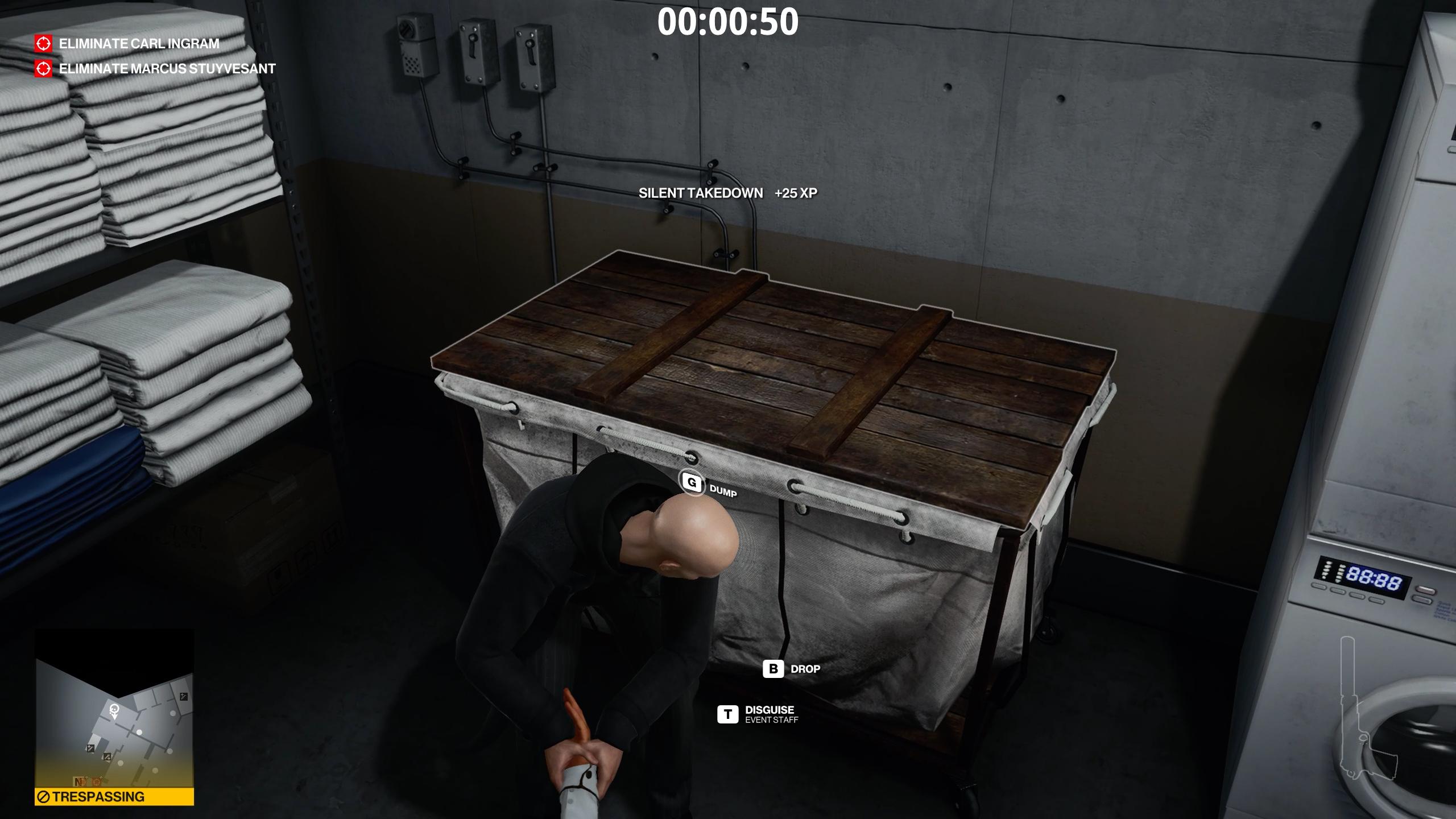 how to unlock elevators - hitman 3 - grab a disguise