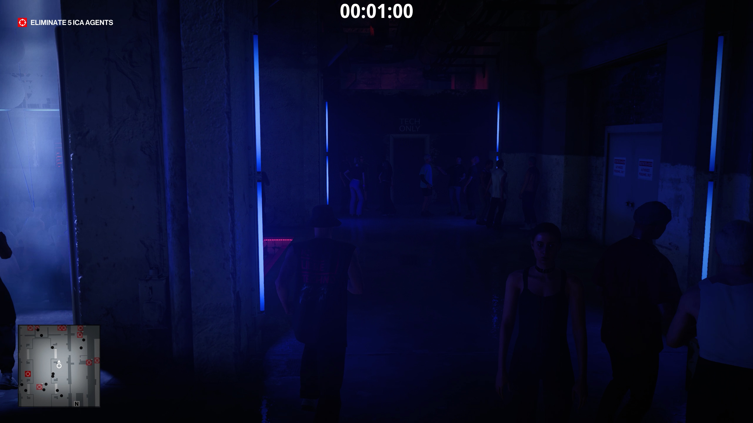 hitman 3 - there was a fire fight - backstage entrance