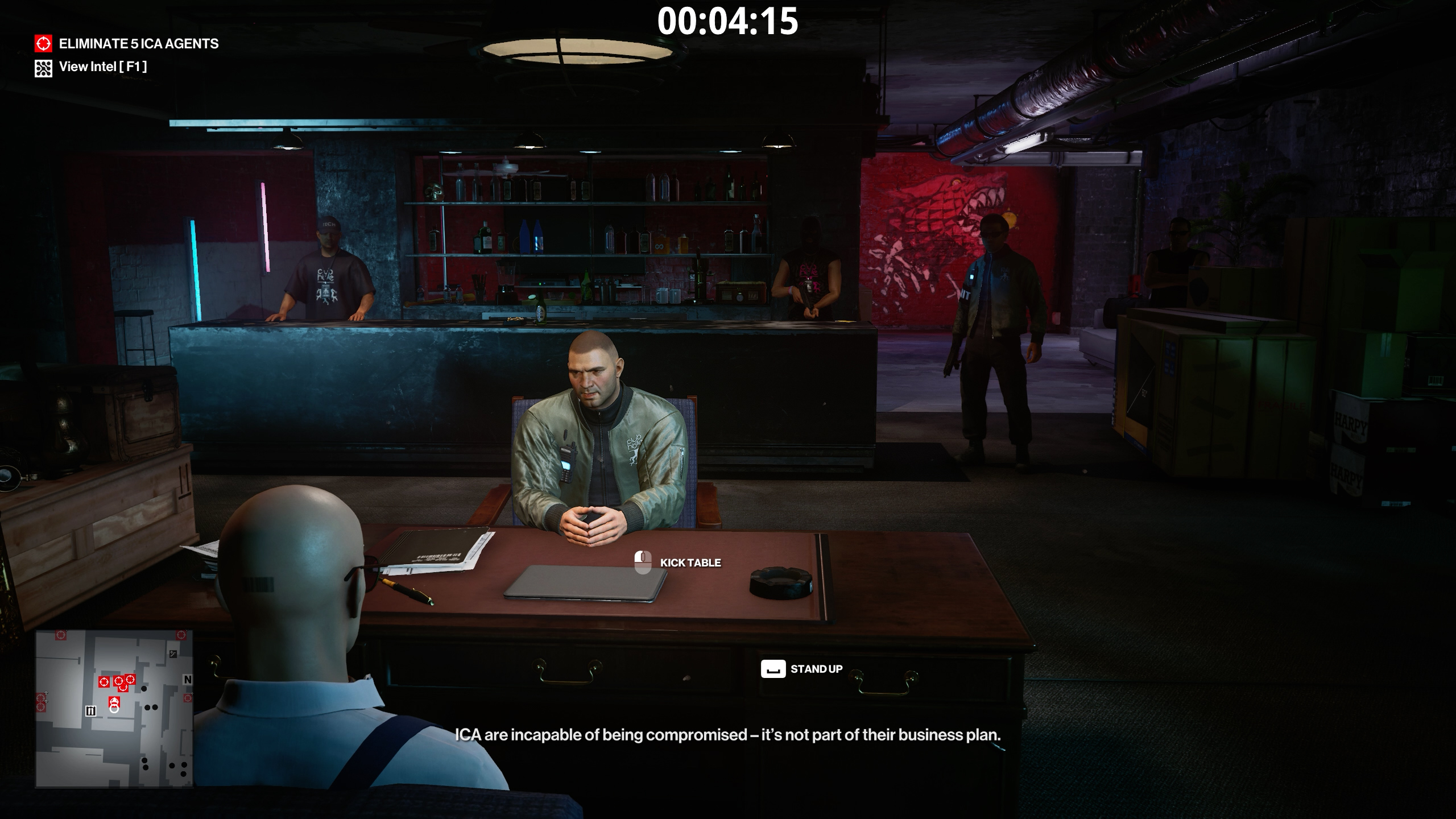hitman 3 - there was a fire fight - wait for five agents to arrive