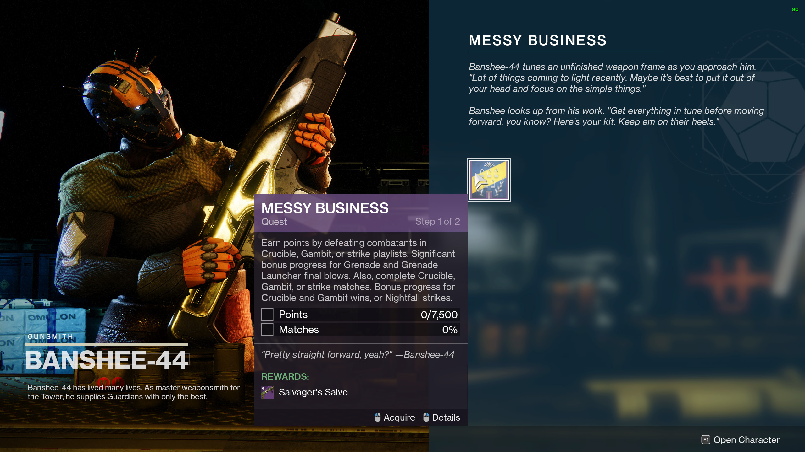 messy business quest destiny 2