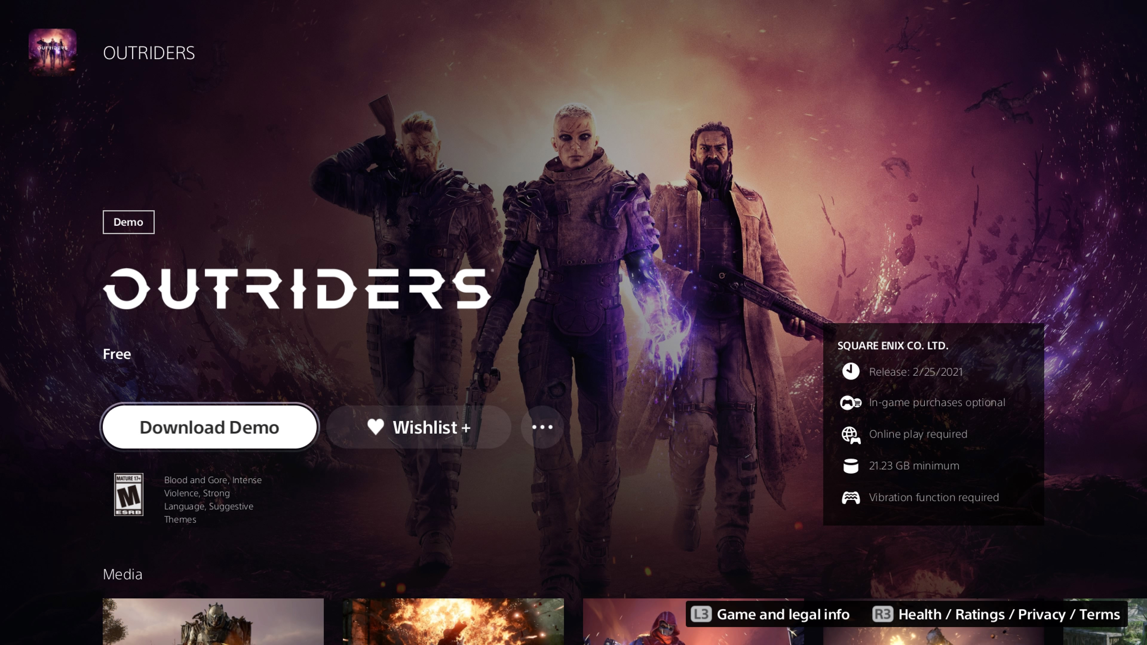 How to download the Outriders demo
