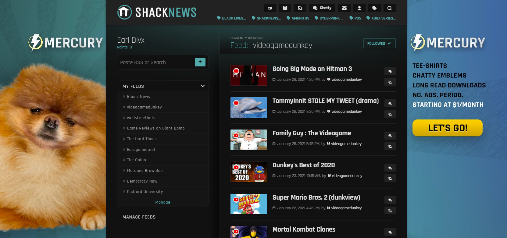 You can even follow YouTube channels with Shacknews Reader!