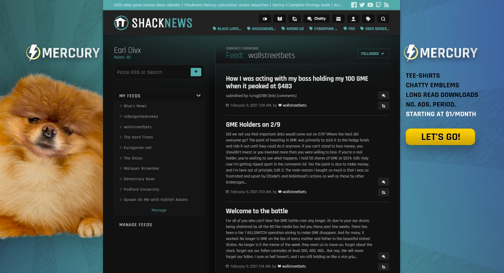 Following a subreddit is surprisingly easy with Shacknews Reader.