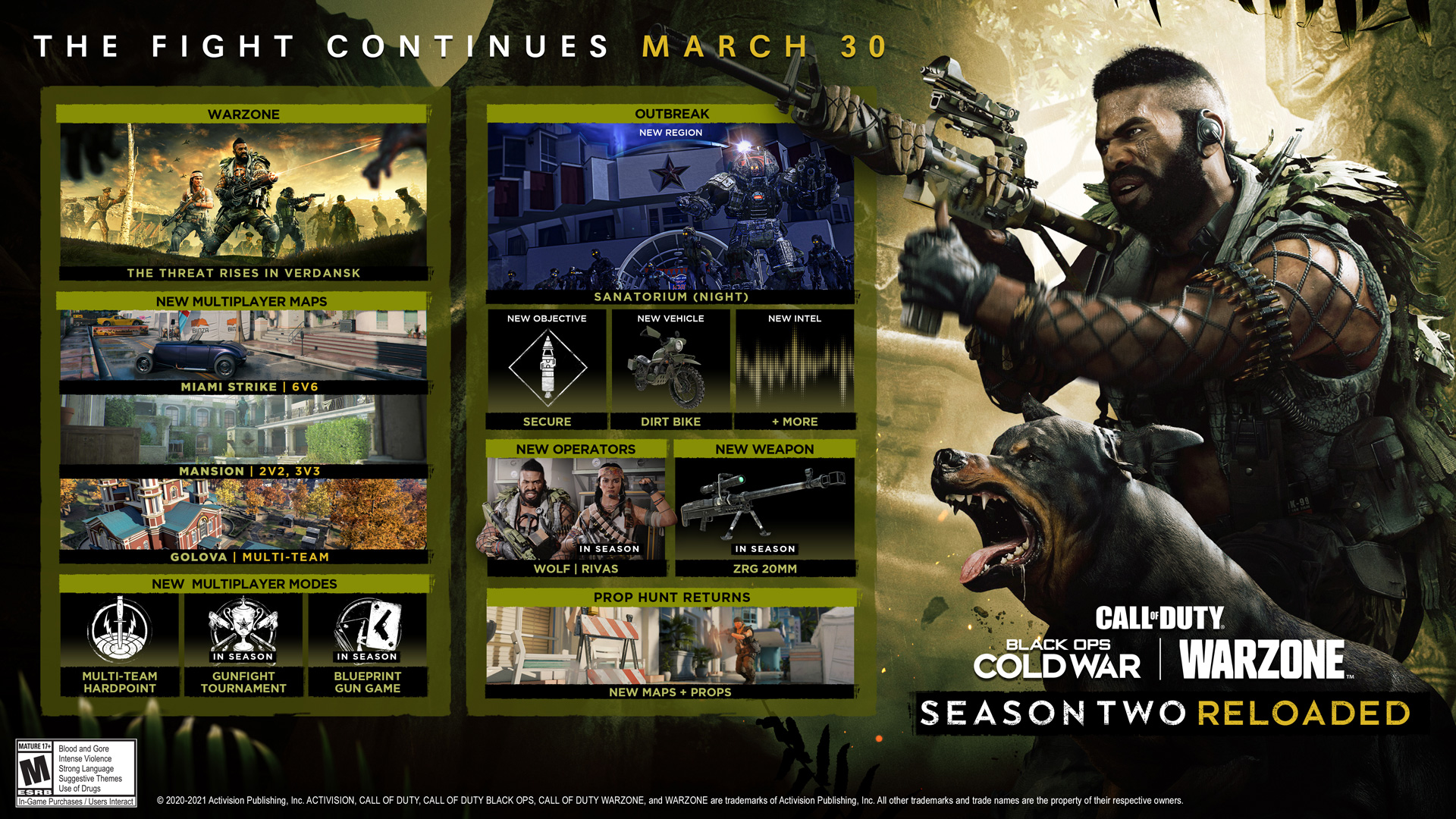 call of duty black ops cold war & warzone season 2 reloaded