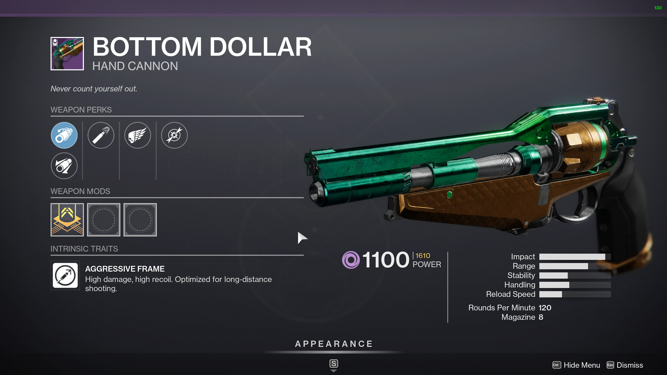 destiny 2 bottom dollar