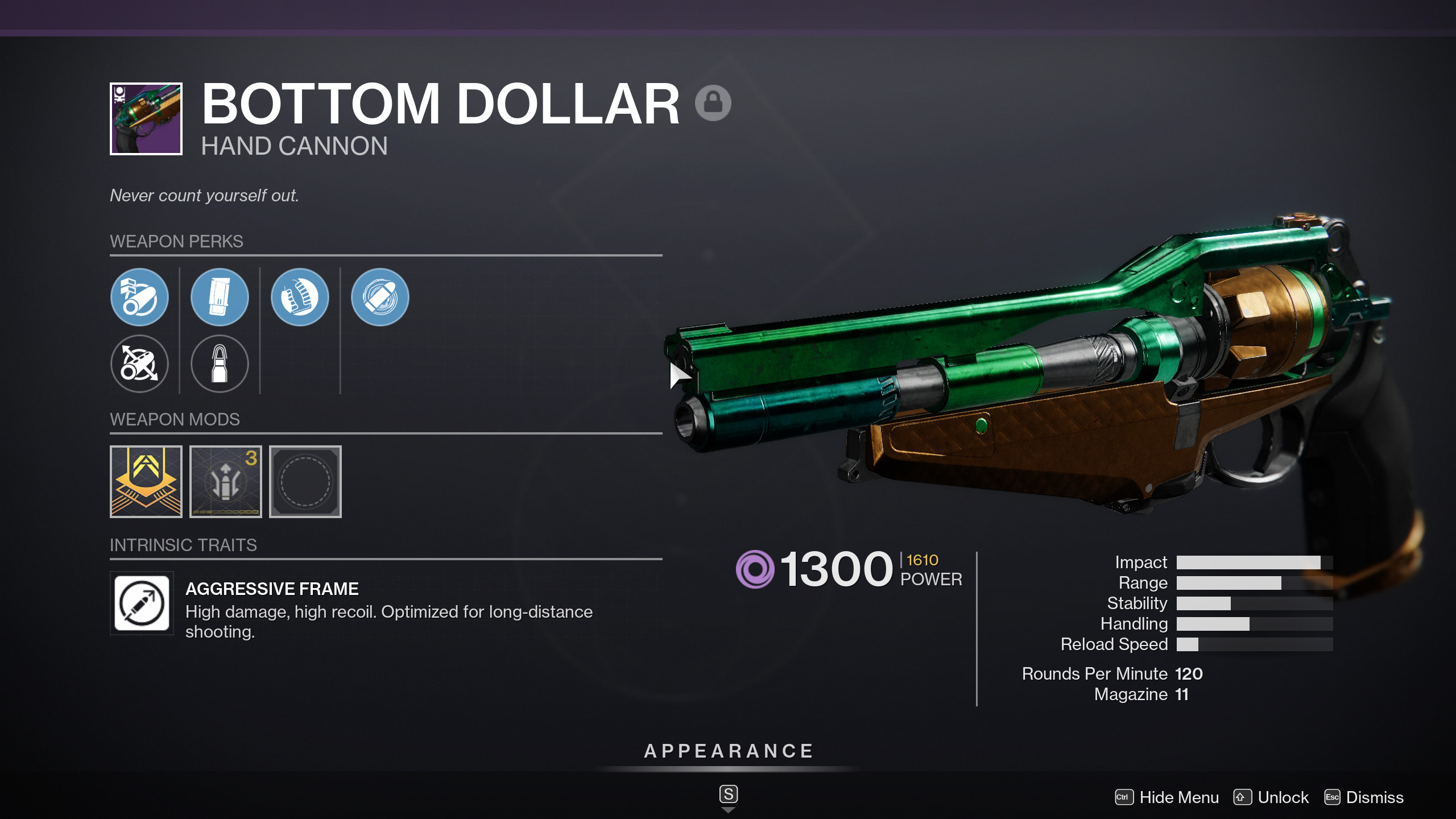 destiny 2 bottom dollar god roll