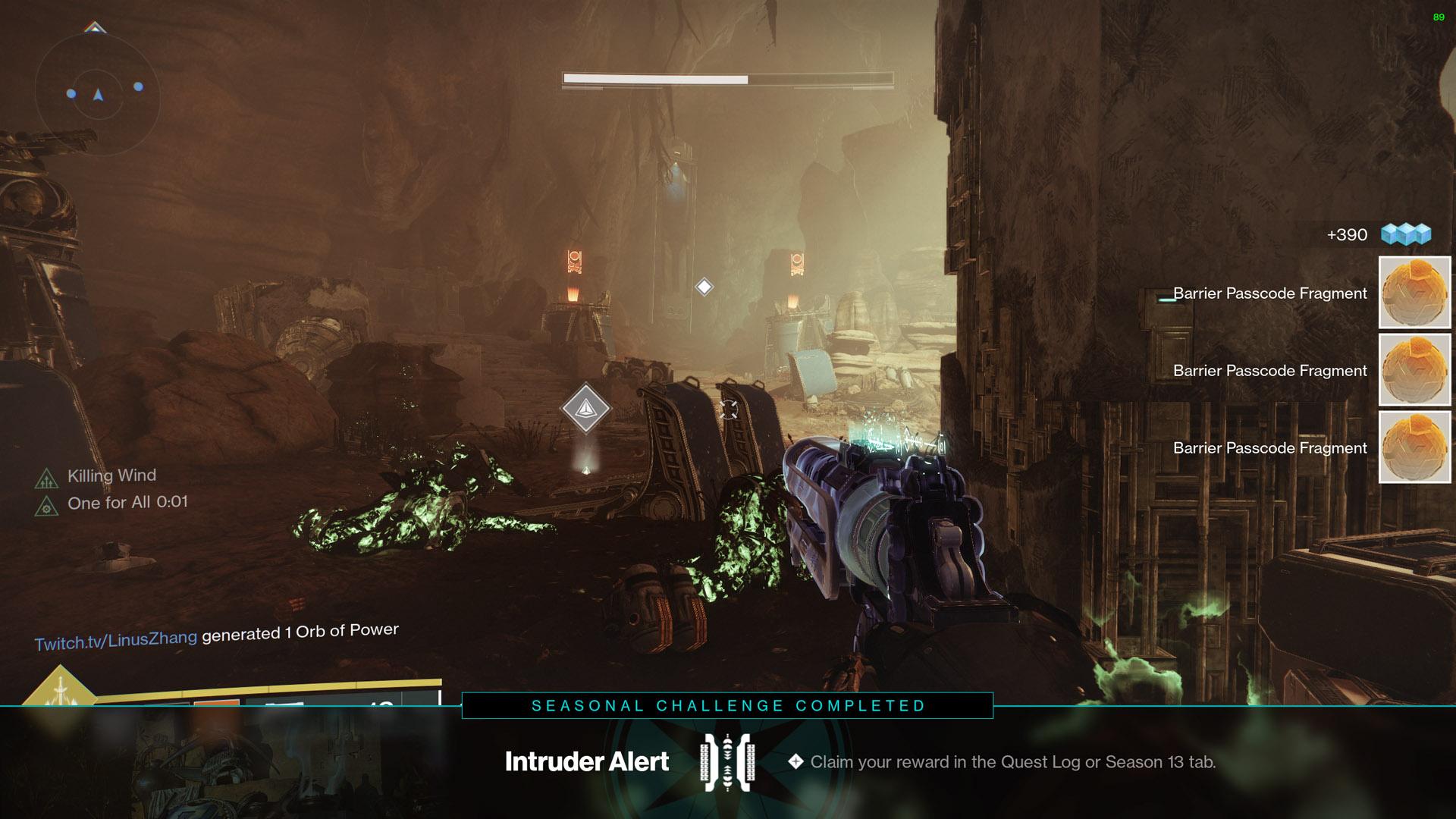 destiny 2 intruder alert