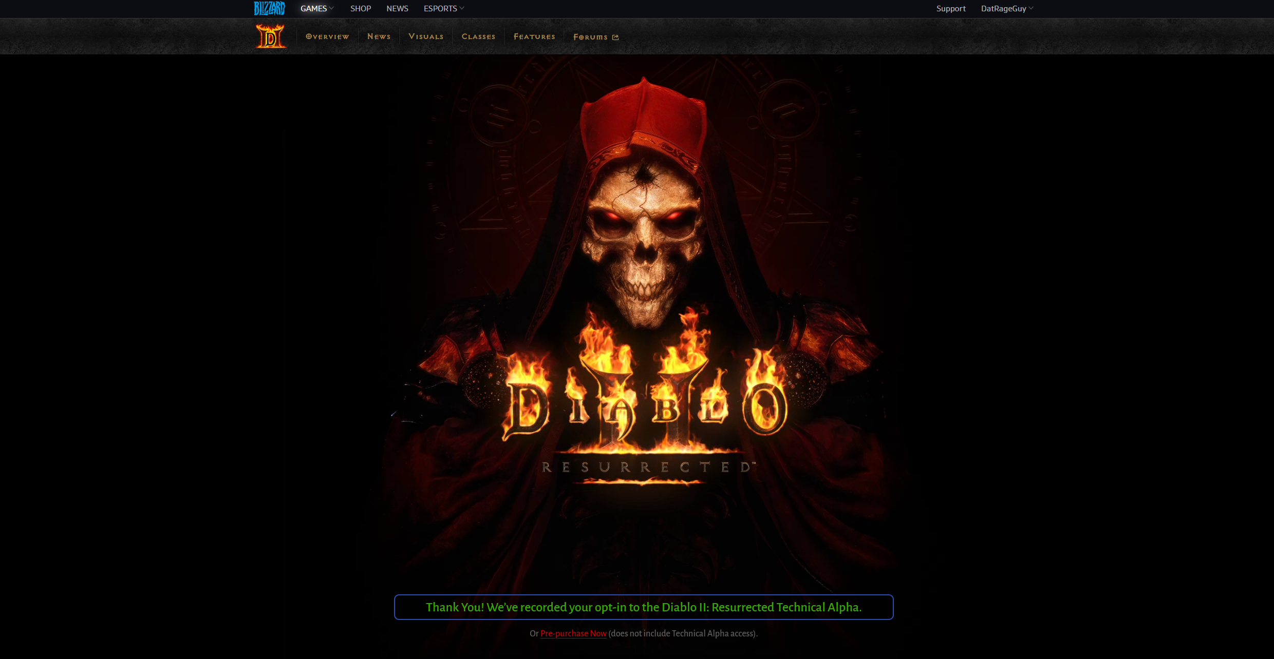How to sign up for the Diablo 2: Resurrected alpha test