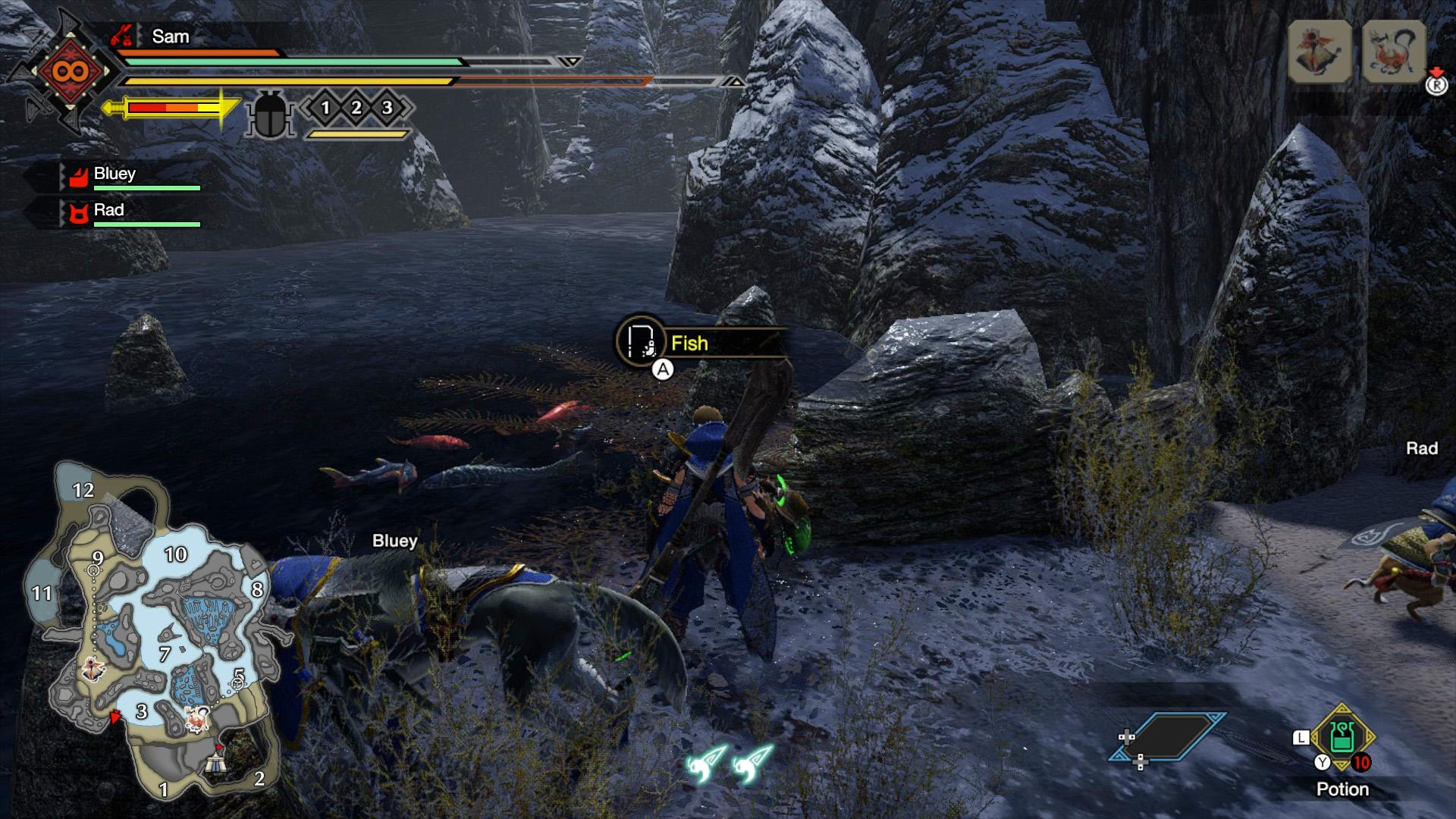 monster hunter rise fishing locations