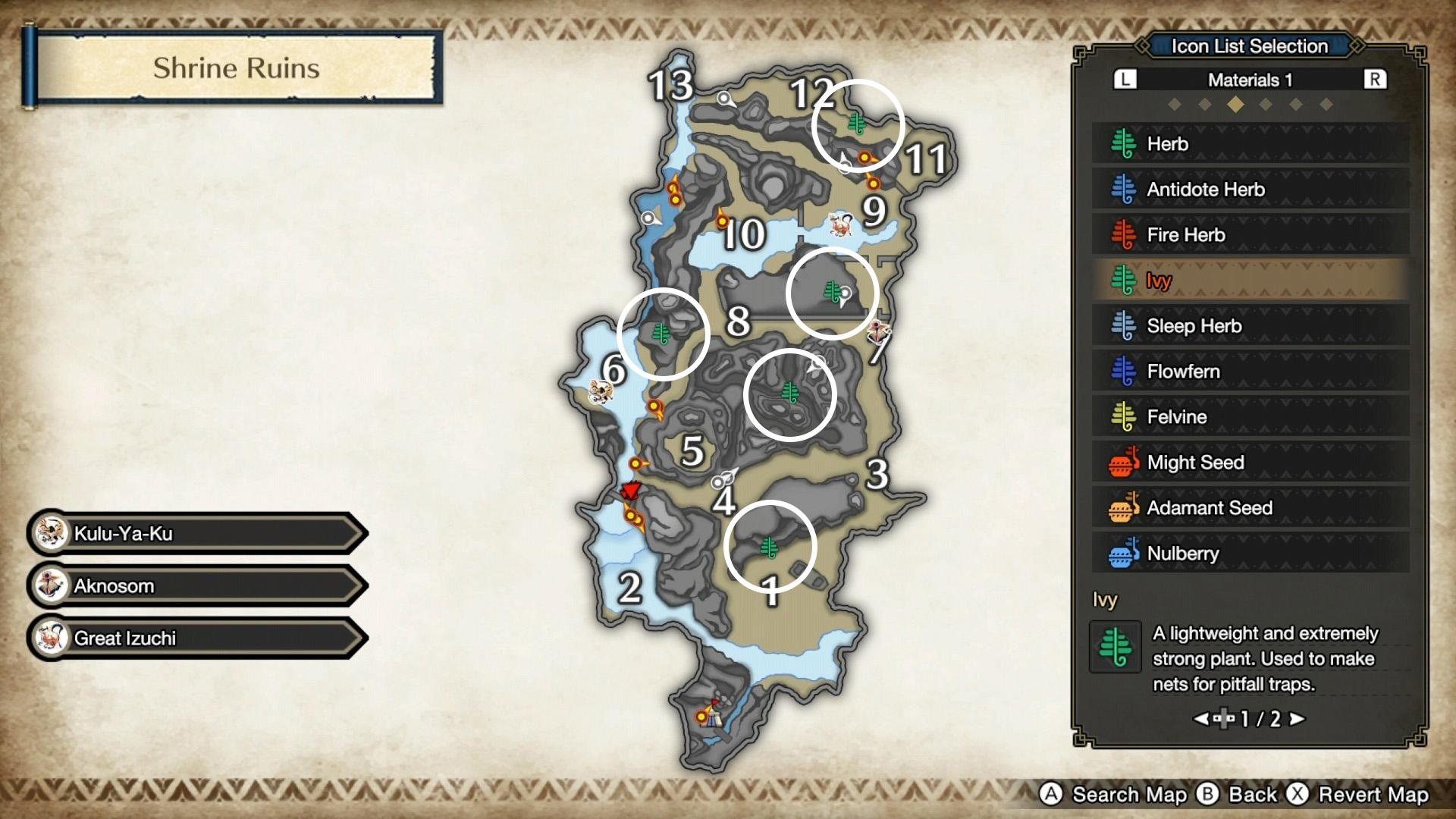 monster hunter rise ivy shrine ruins map