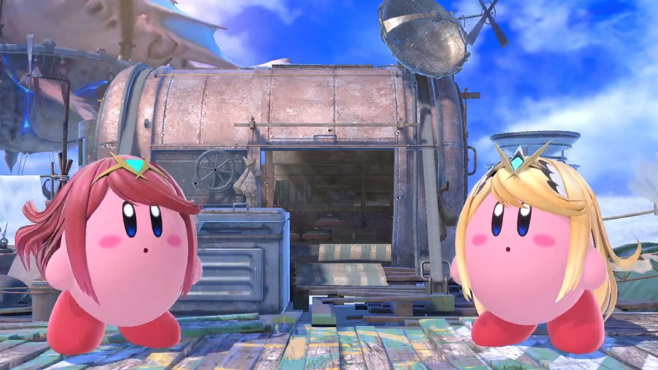 Kirby will have a different form based on if he swallows Pyra or Mythra as the active fighter.