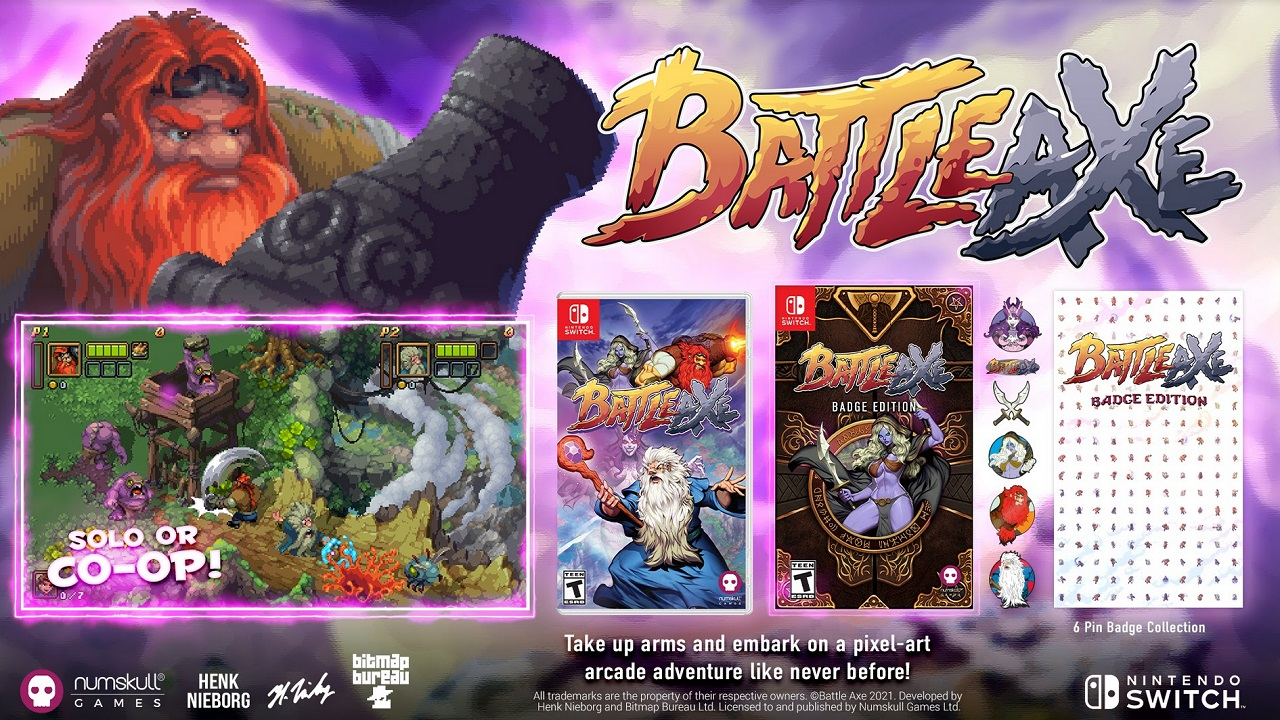 "As is often the case with Limited Run Games releases, Battle Axe will feature standard and collector's ""Badge Edition"" copies in its PS4 and Switch North American releases."